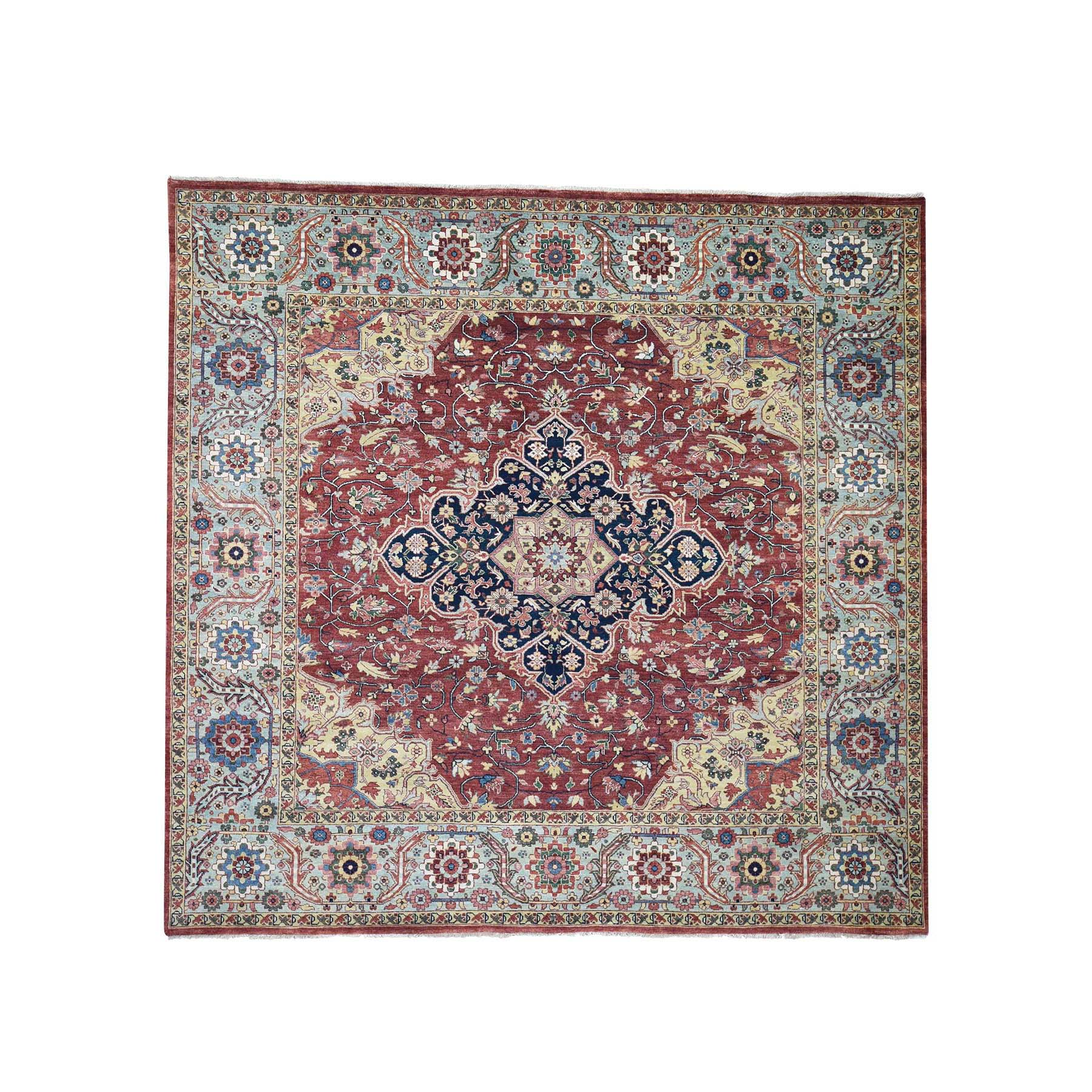 Serapi Heriz and Bakhshayesh Collection Hand Knotted Red Rug No: 189898