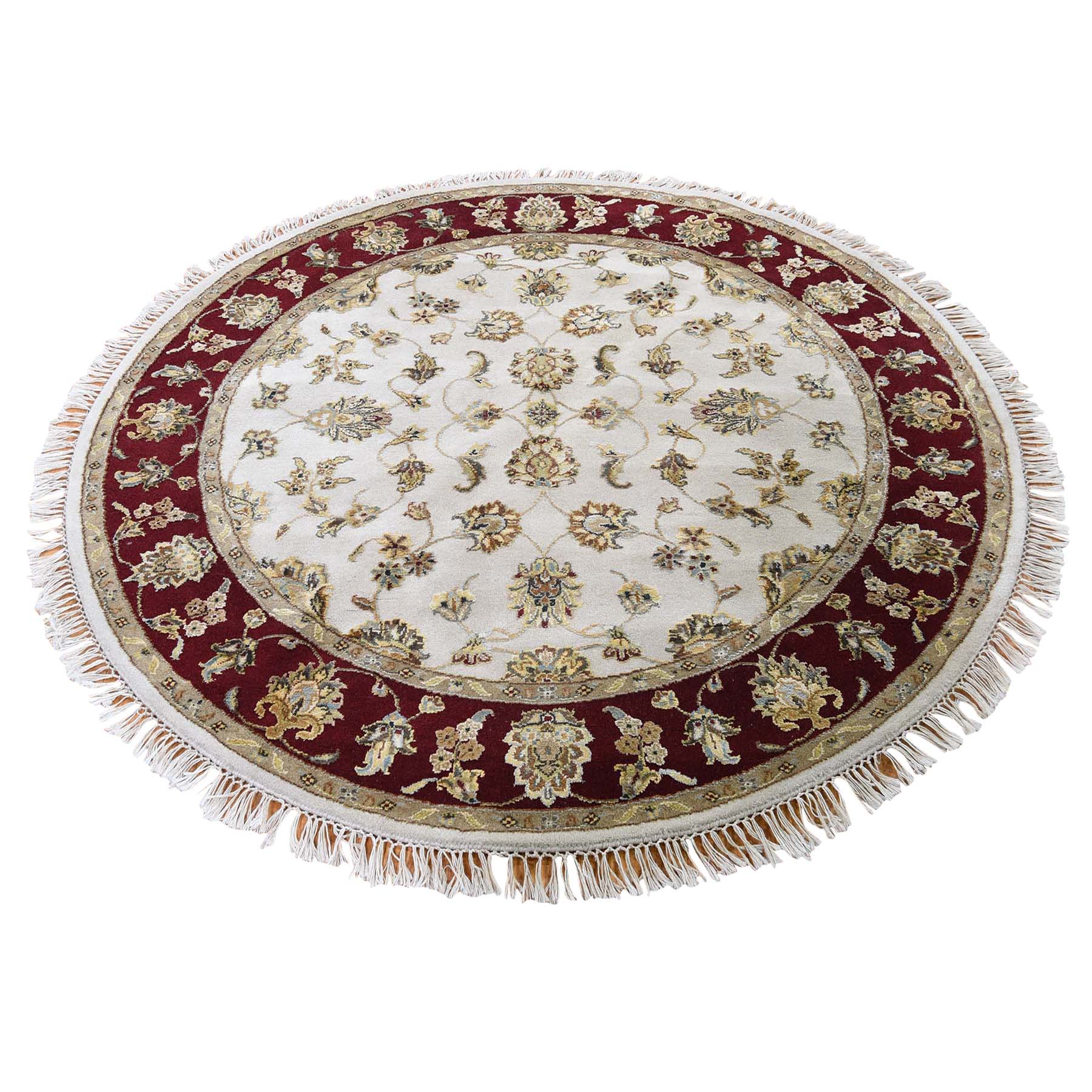 Pahlavi Collection Hand Knotted Ivory Rug No: 0189968