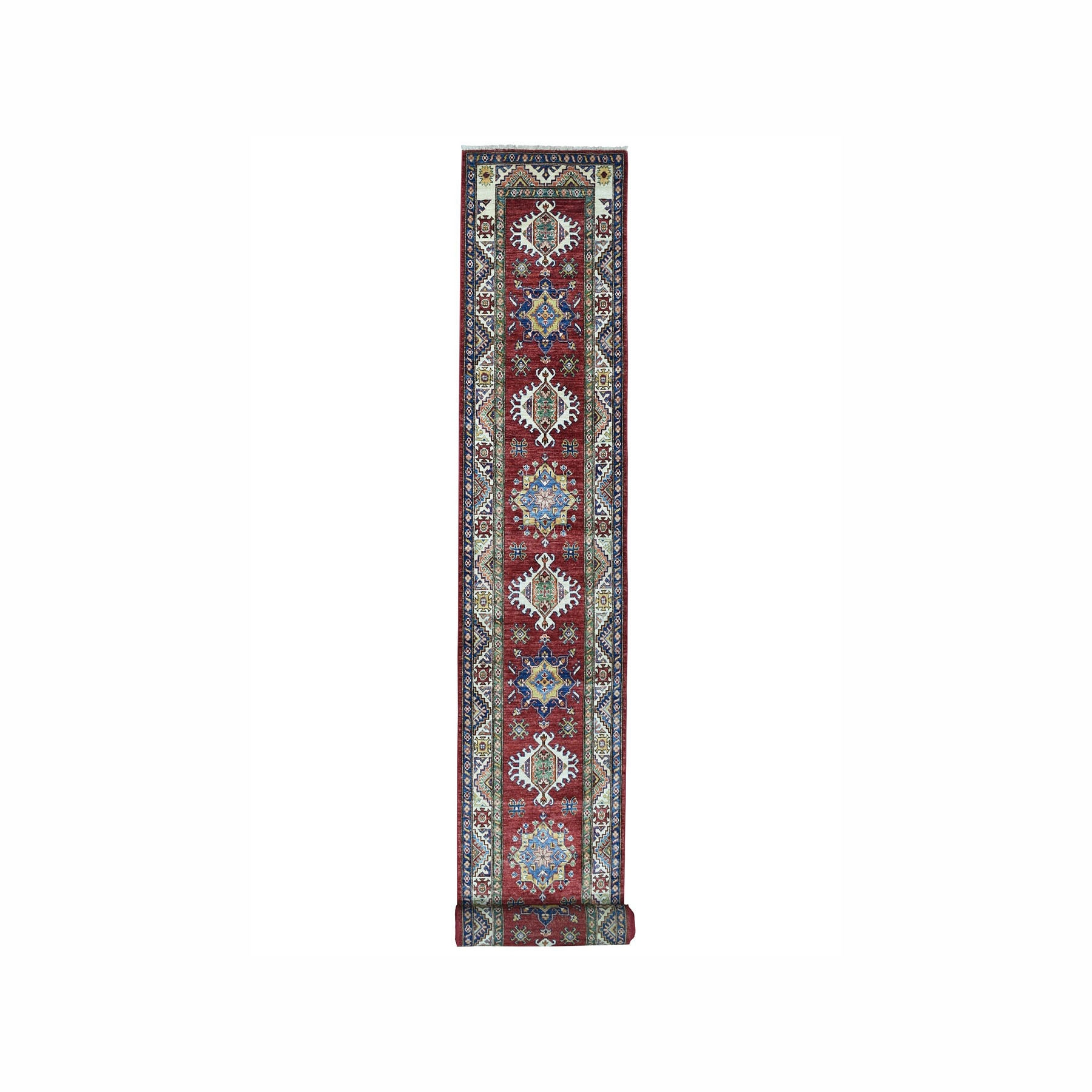 Caucasian Collection Hand Knotted Red Rug No: 1100048