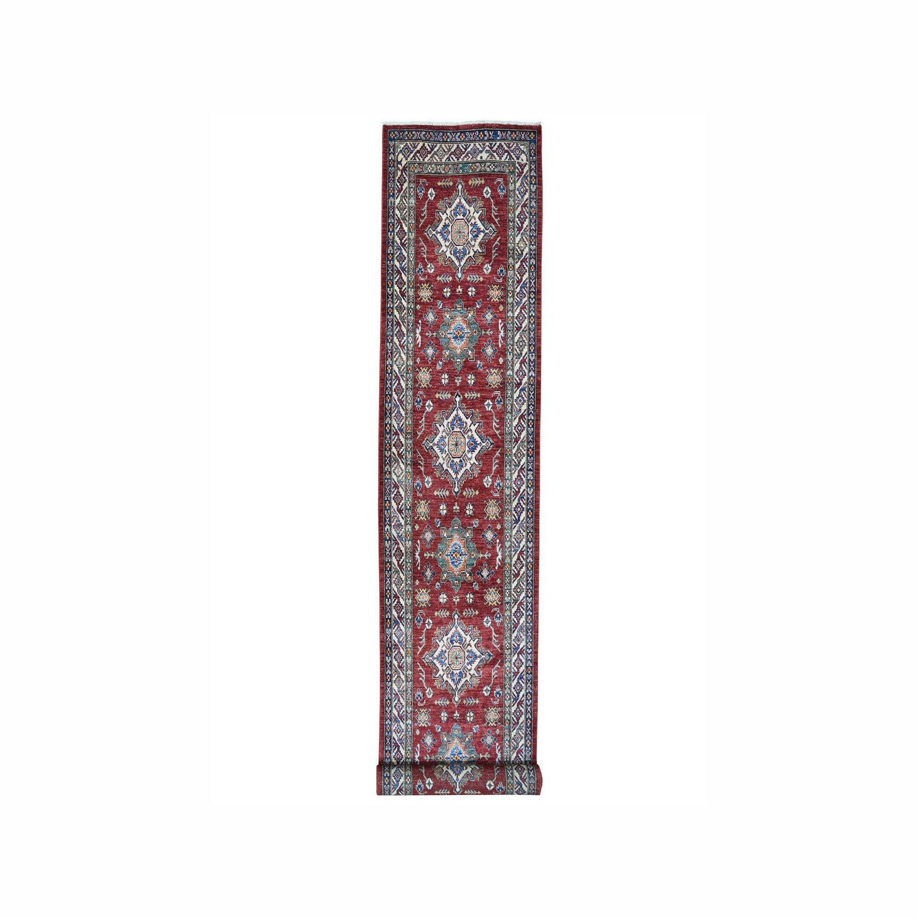 Caucasian Collection Hand Knotted Red Rug No: 1100126