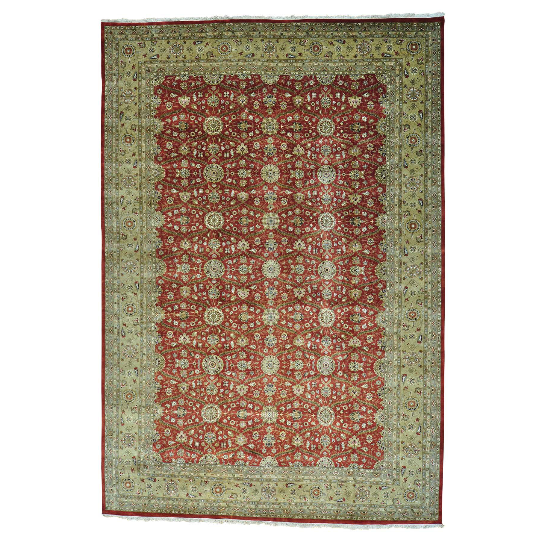 Pirniakan Collection Hand Knotted Red Rug No: 0156806