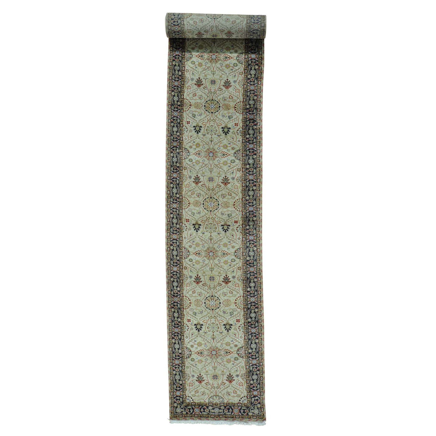Pirniakan Collection Hand Knotted Beige Rug No: 0156894