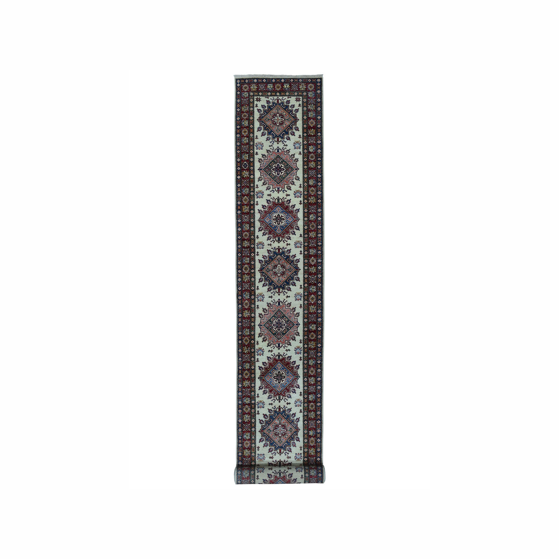 Caucasian Collection Hand Knotted Ivory Rug No: 01100374