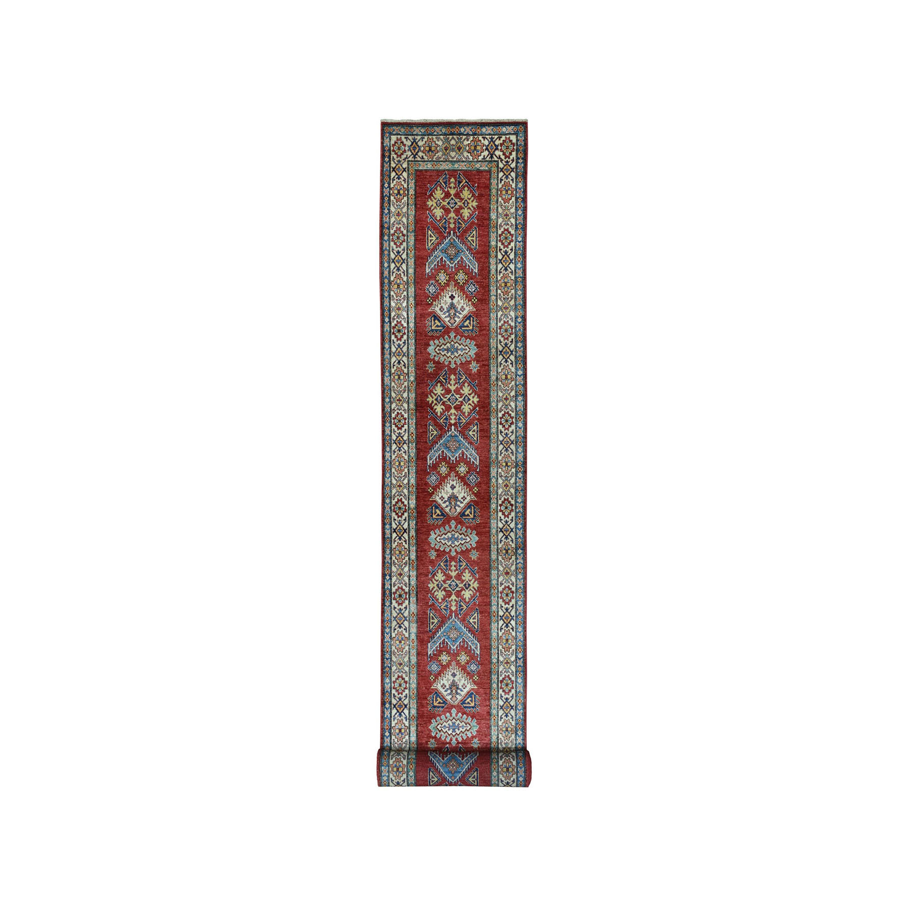 Caucasian Collection Hand Knotted Red Rug No: 01101210