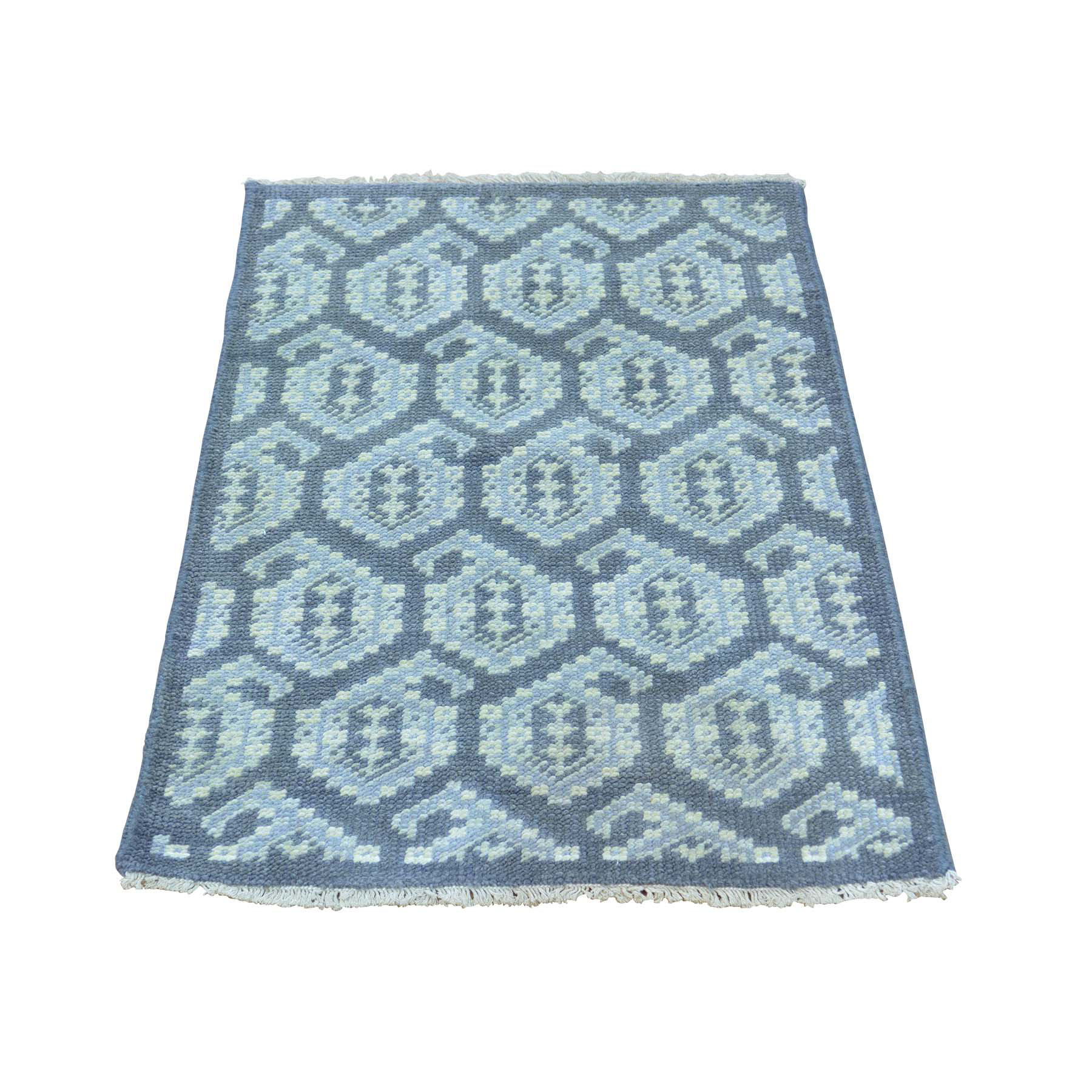 Agra And Turkish Collection Hand Knotted Grey 0157292 Rug