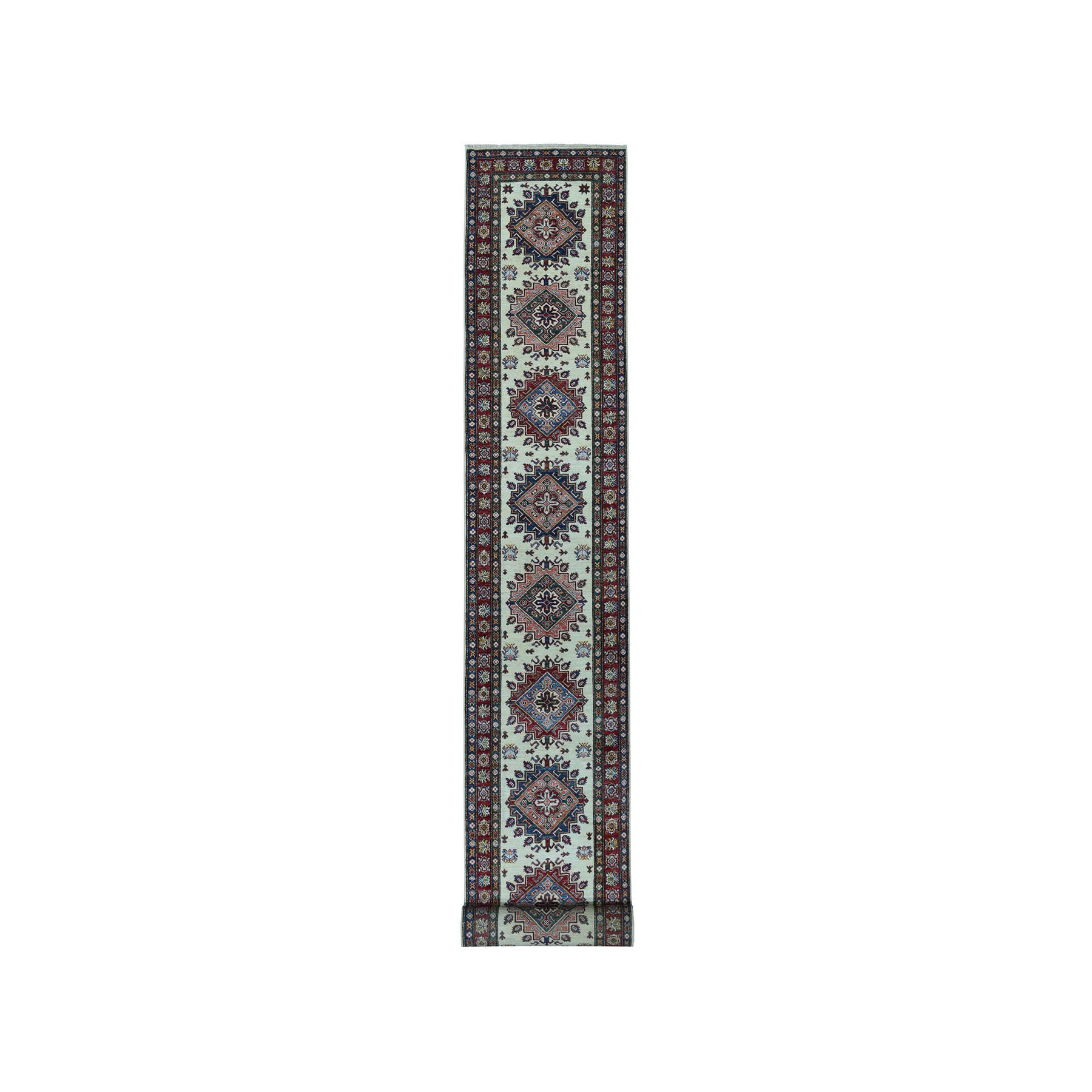 Caucasian Collection Hand Knotted Ivory Rug No: 01101292