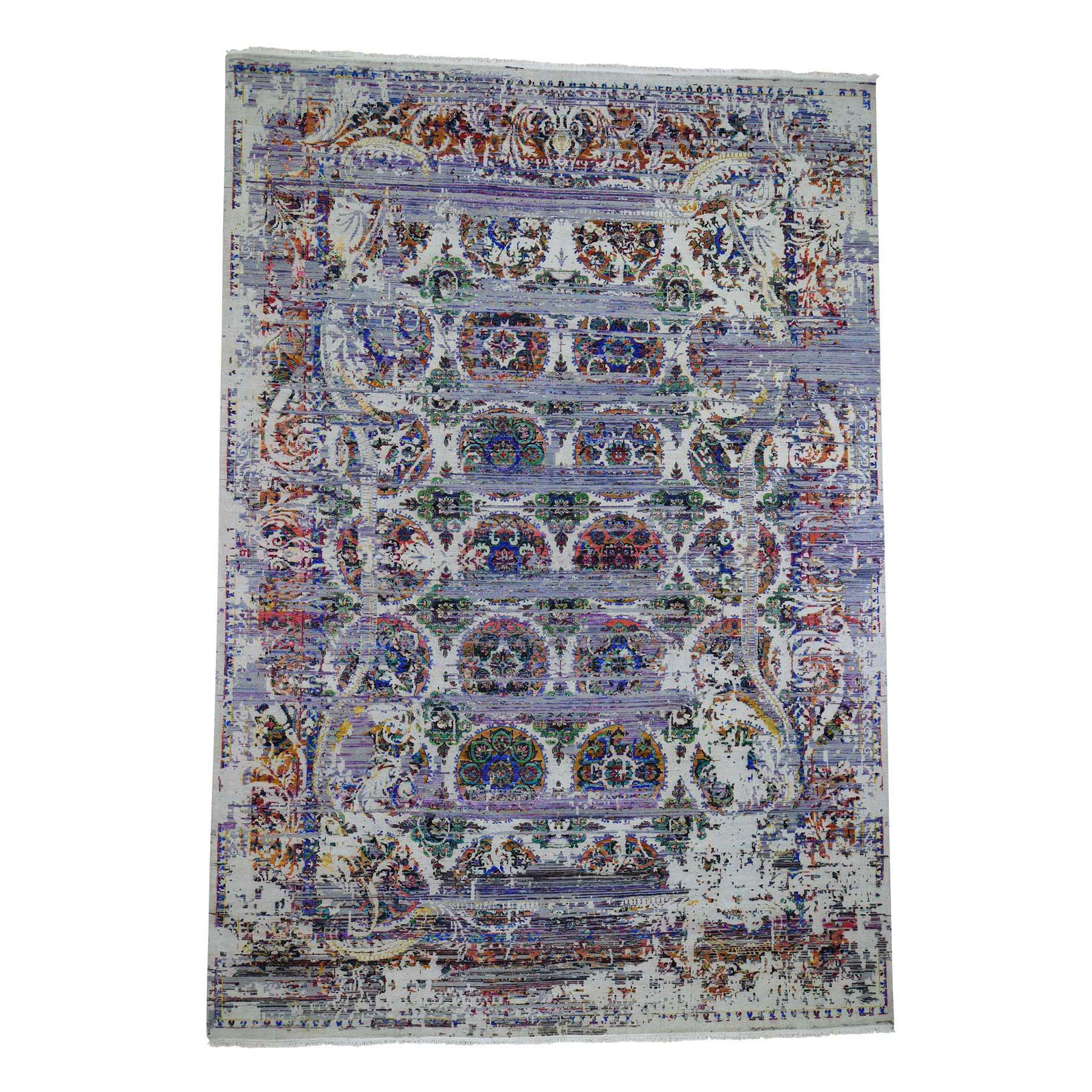 Mid Century Modern Collection Hand Knotted Grey Rug No: 0191412