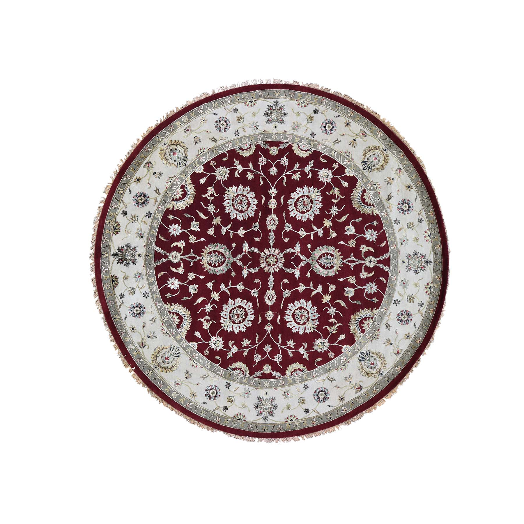 Pahlavi Collection Hand Knotted Red Rug No: 0191524