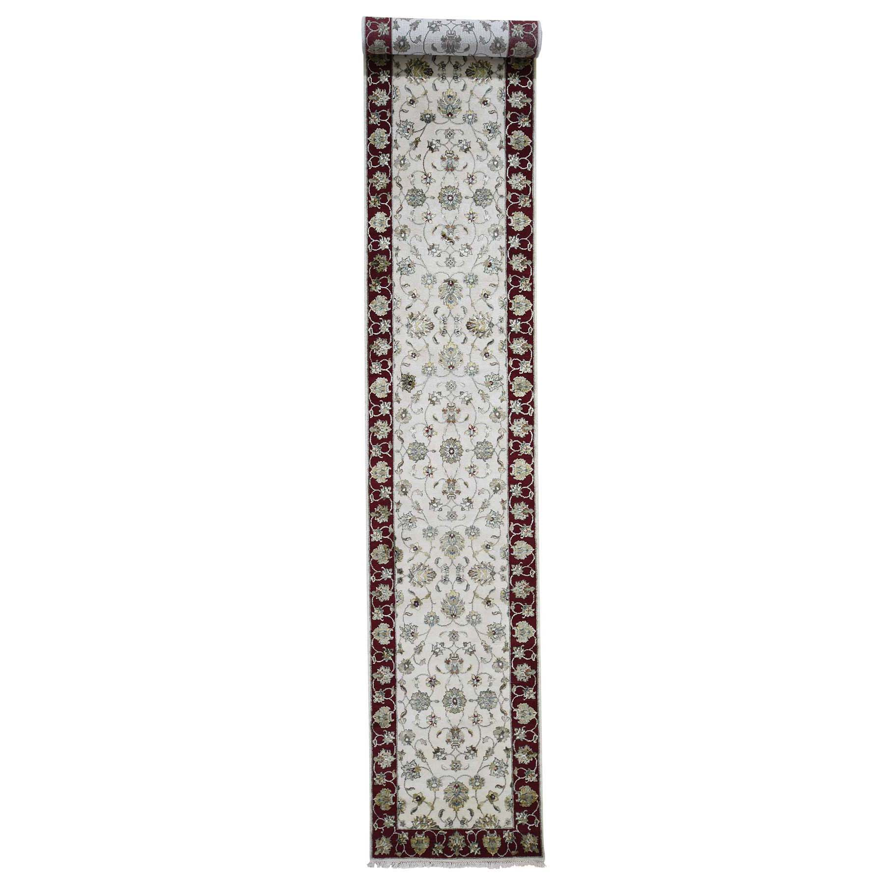 Pahlavi Collection Hand Knotted Ivory Rug No: 0191580