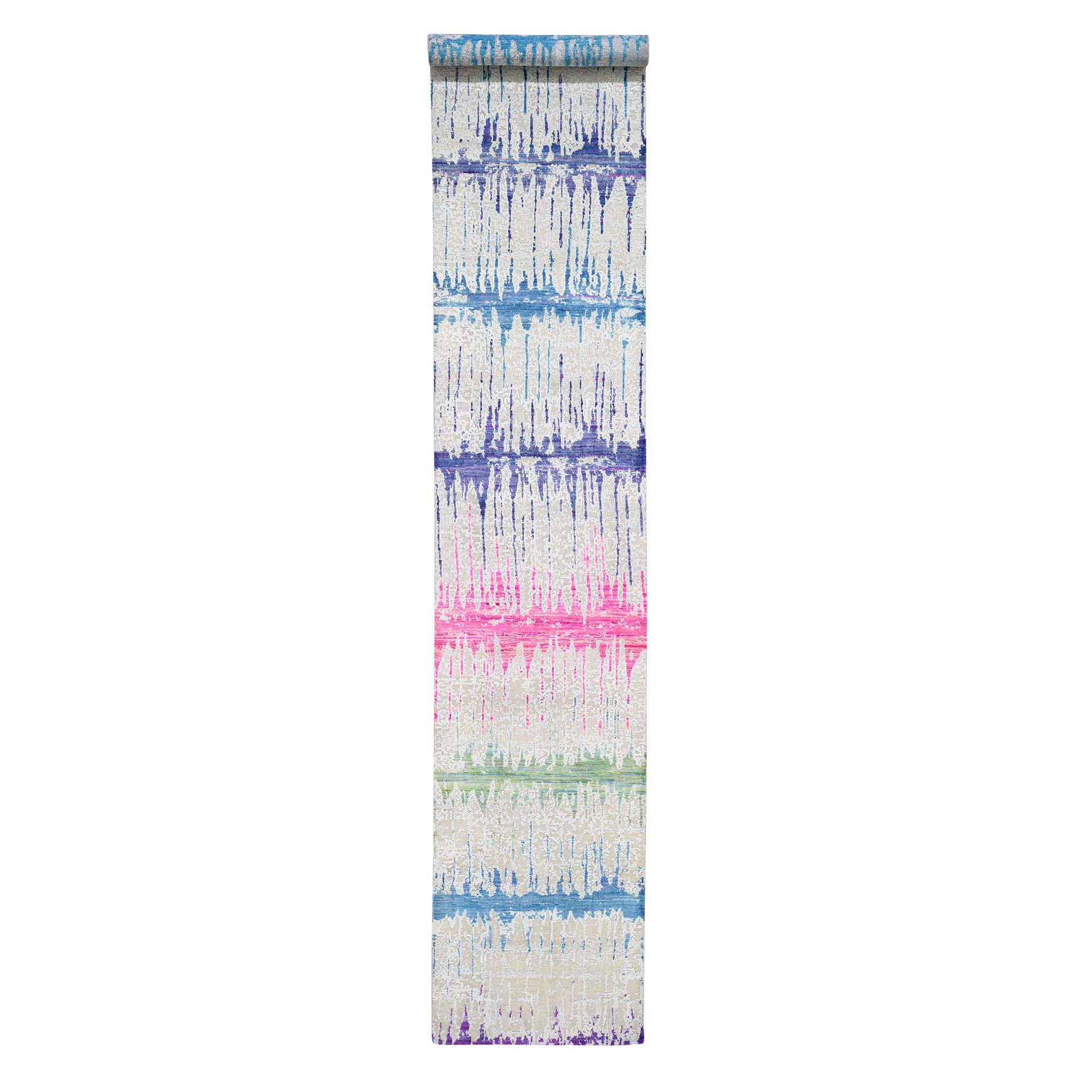 Mid Century Modern Collection Hand Knotted Multicolored Rug No: 0191726