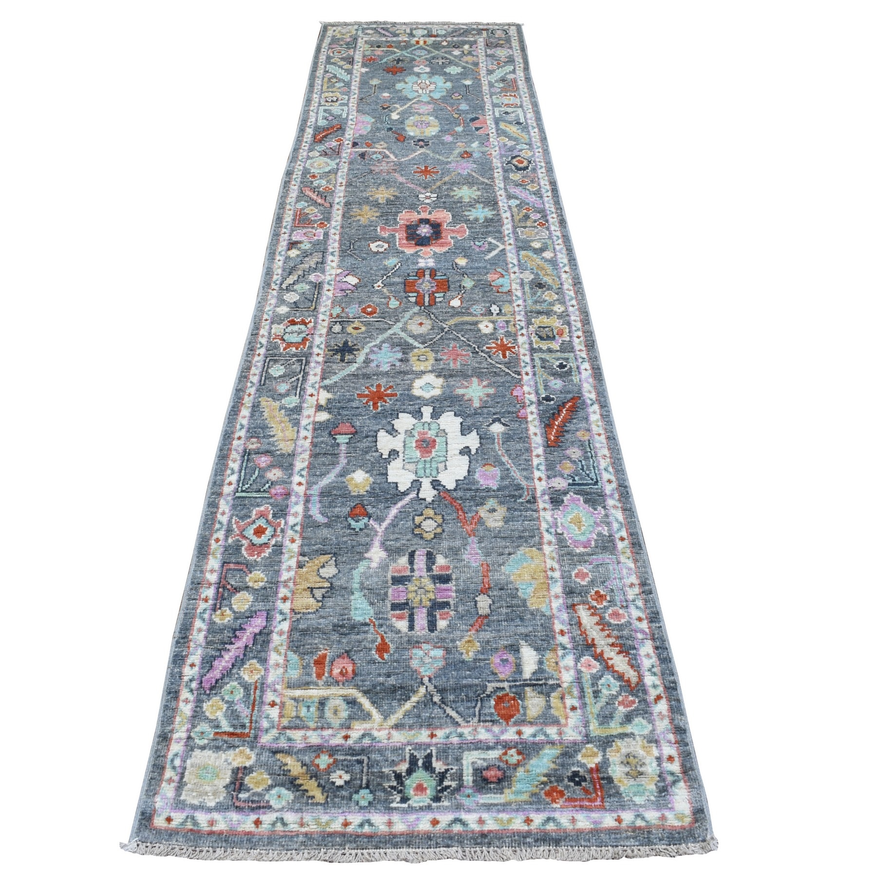 Agra And Turkish Collection Hand Knotted Grey Rug No: 1136542