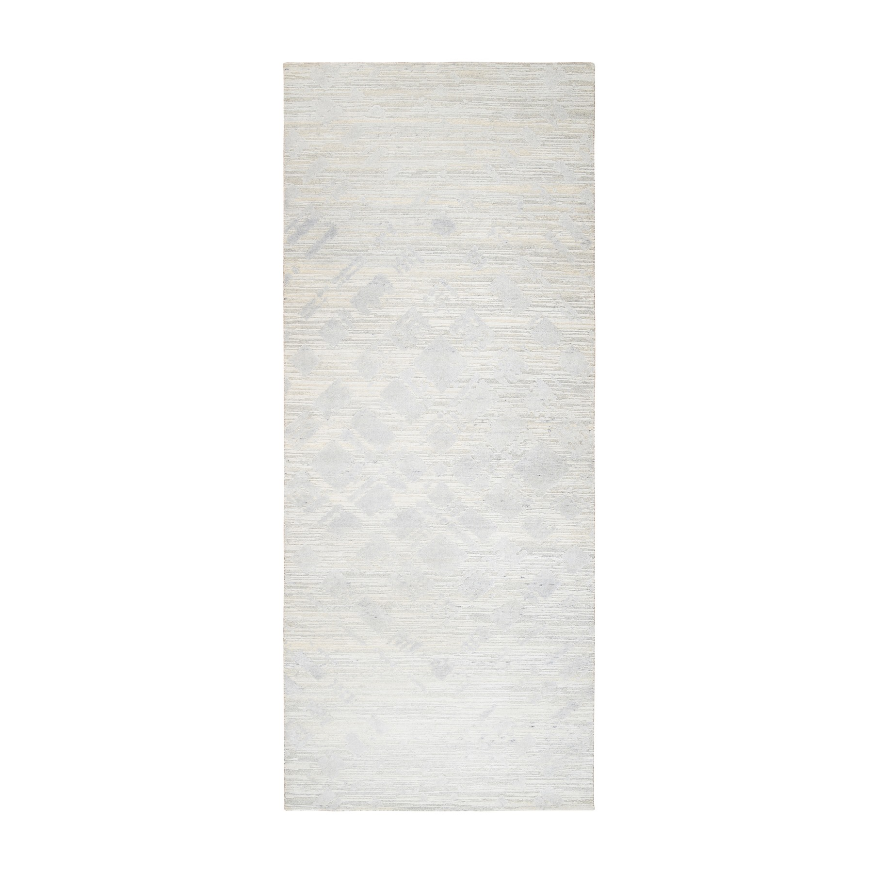 Mid Century Modern Collection Hand Knotted Ivory Rug No: 1126754