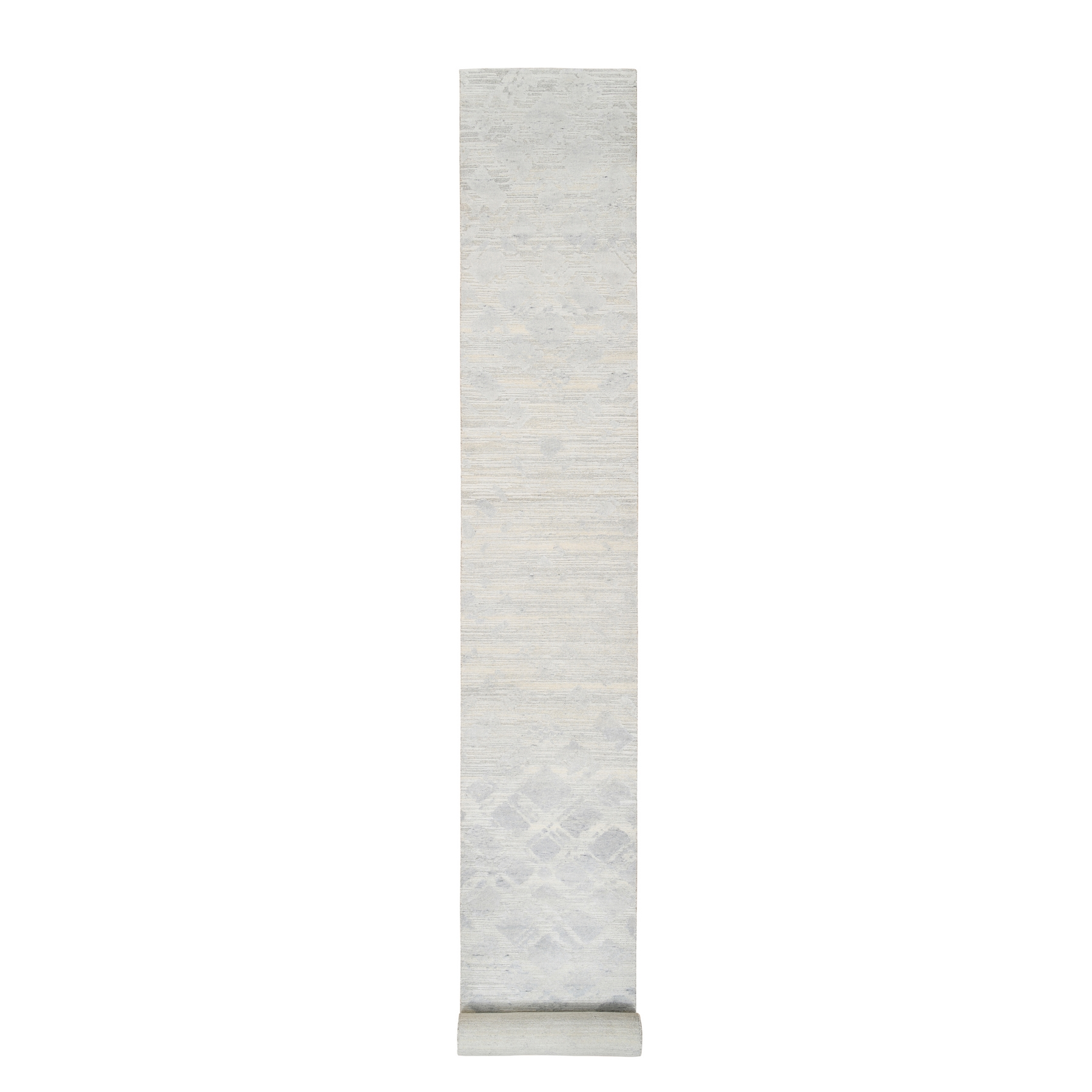 Mid Century Modern Collection Hand Knotted Ivory Rug No: 1126748