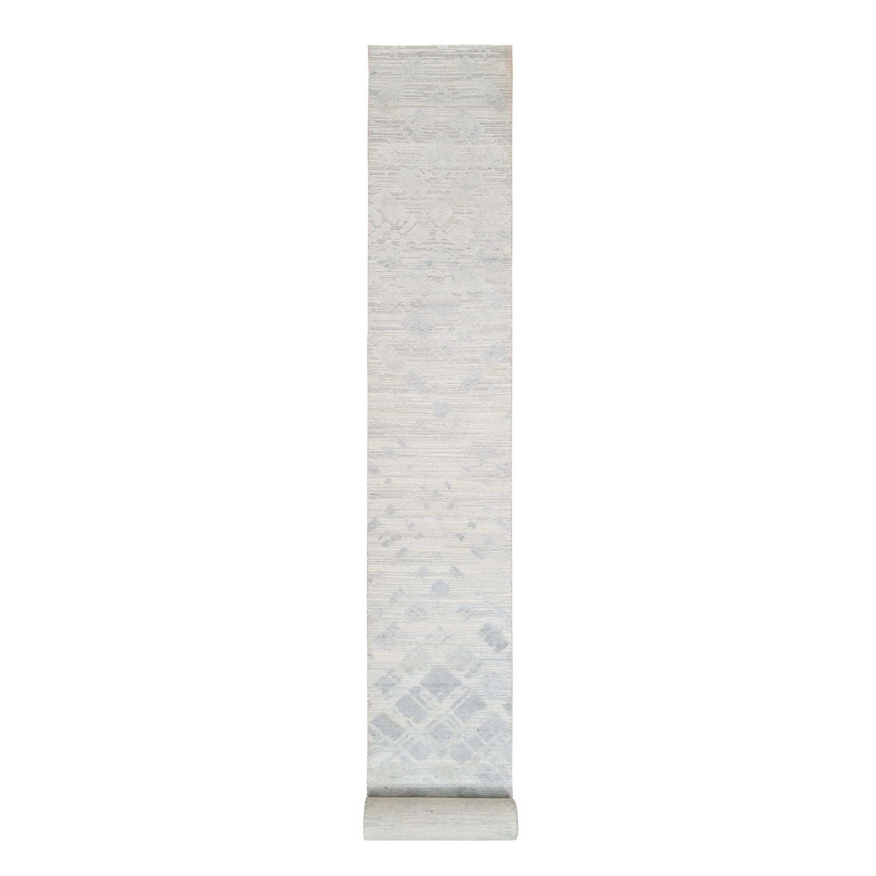 Mid Century Modern Collection Hand Knotted Ivory Rug No: 1126746
