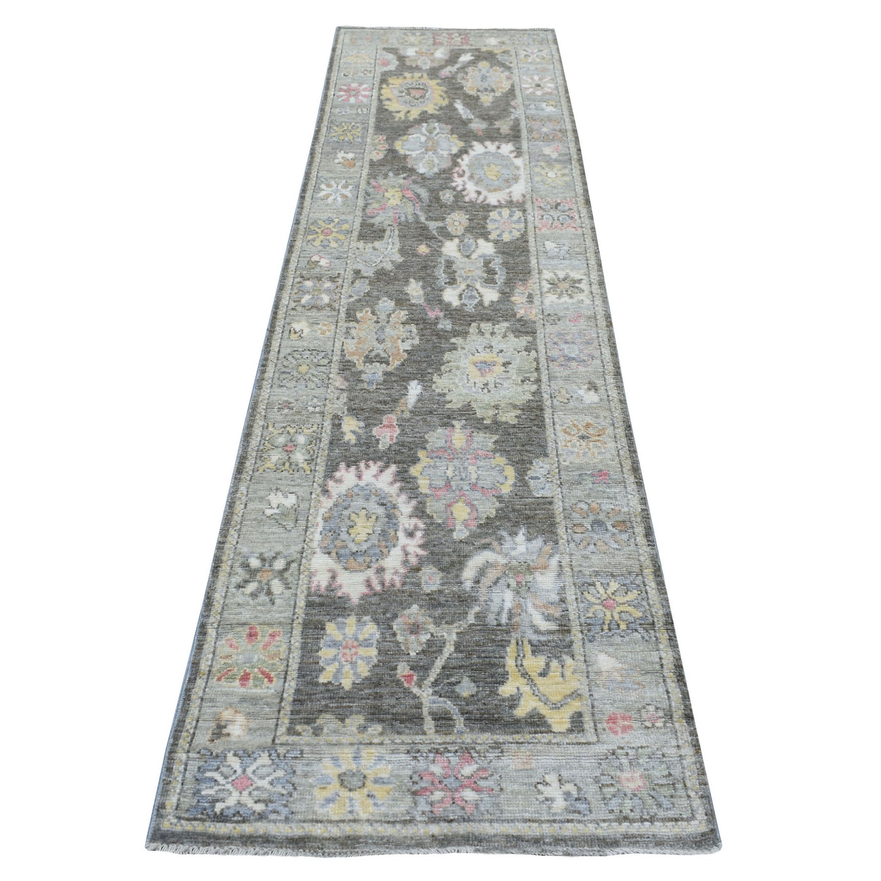 Agra And Turkish Collection Hand Knotted Black Rug No: 1138094