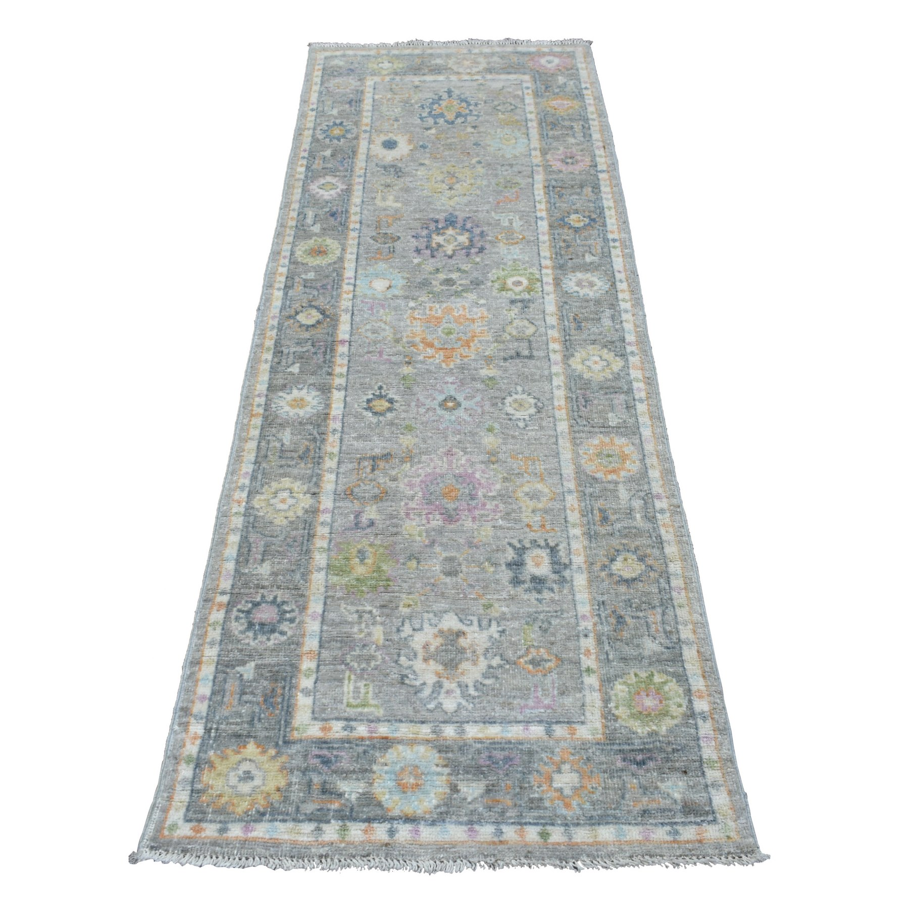 Agra And Turkish Collection Hand Knotted Grey Rug No: 1138244