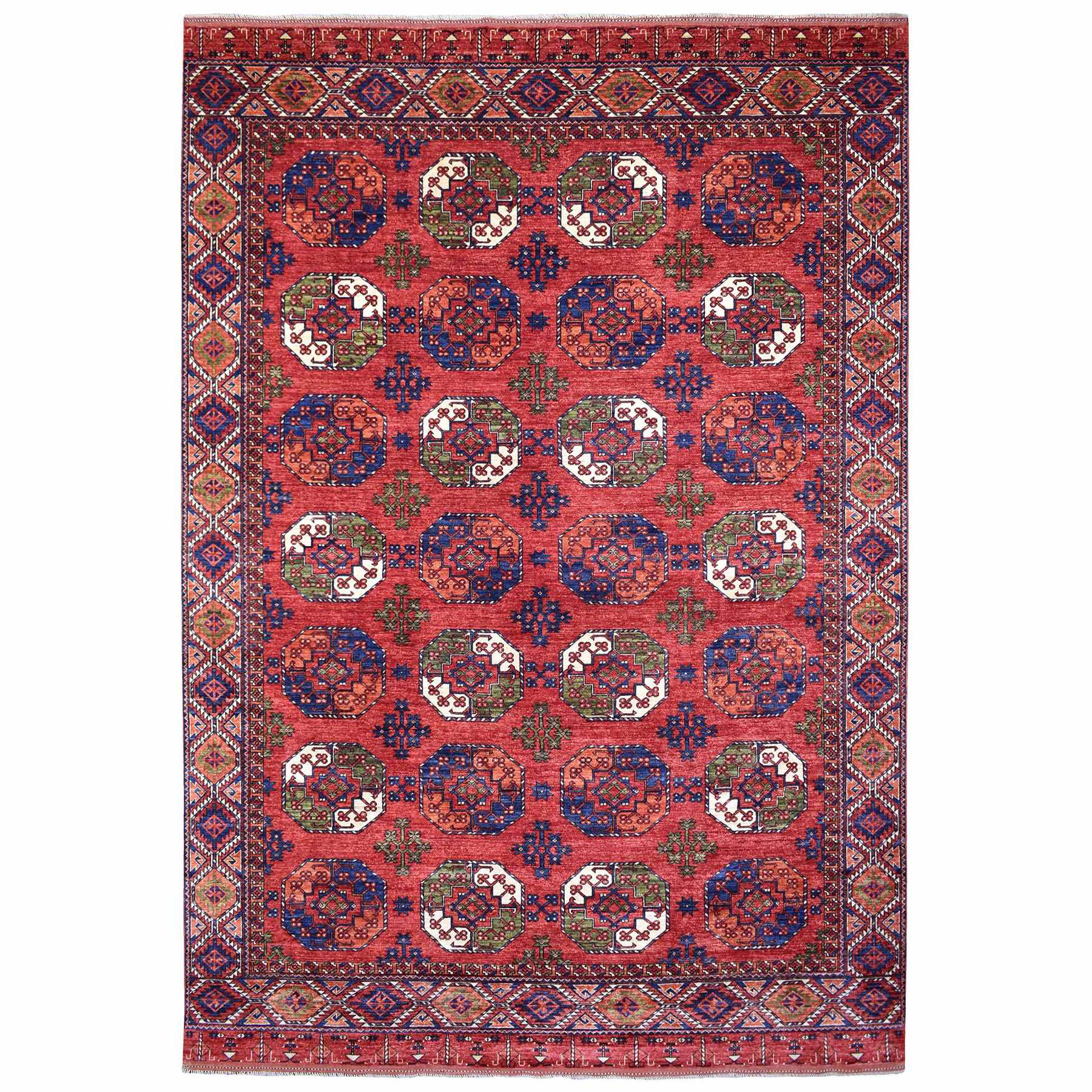 Nomadic And Village Collection Hand Knotted Red Rug No: 1139062