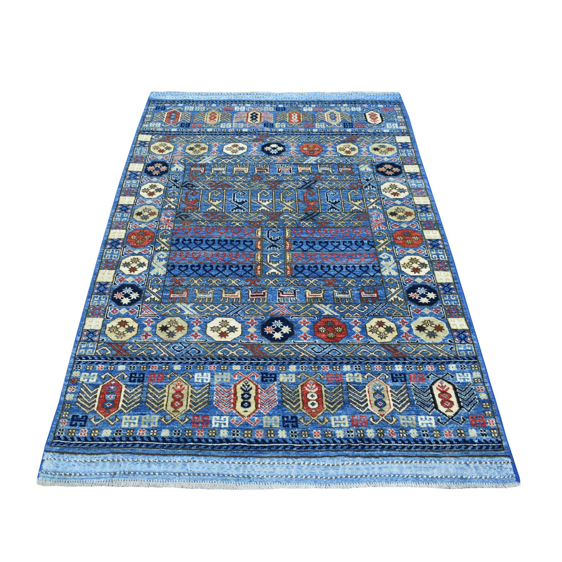 Nomadic And Village Collection Hand Knotted Blue Rug No: 1139066