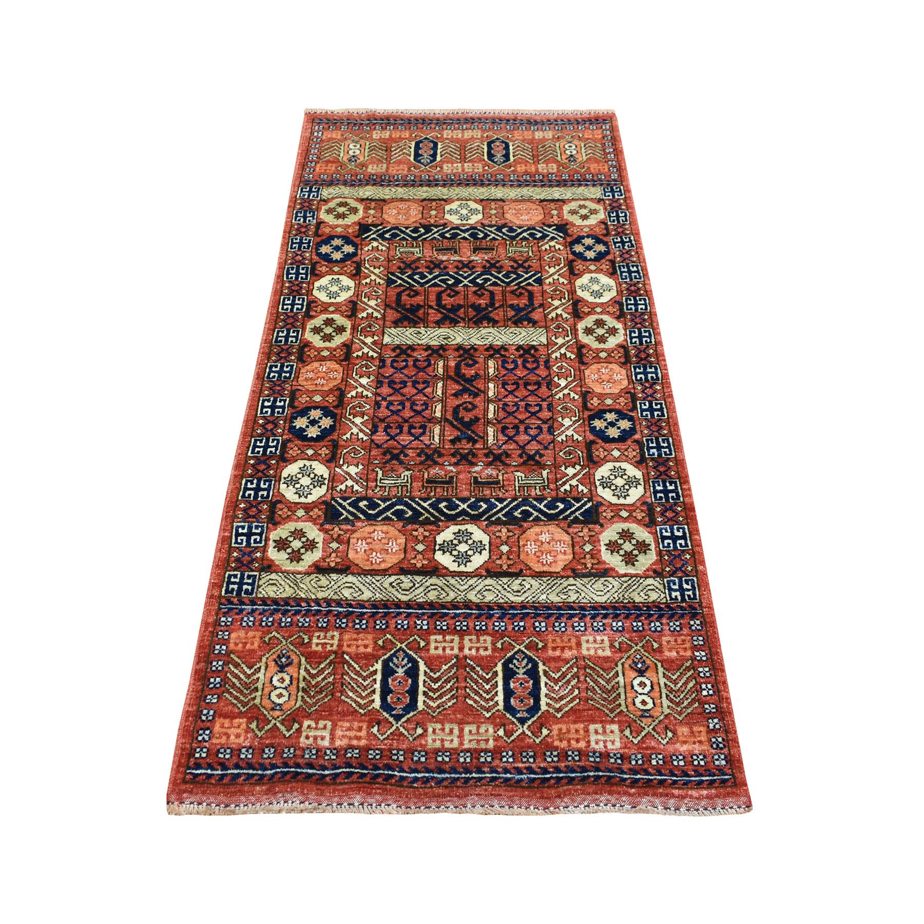 Nomadic And Village Collection Hand Knotted Red Rug No: 1139076
