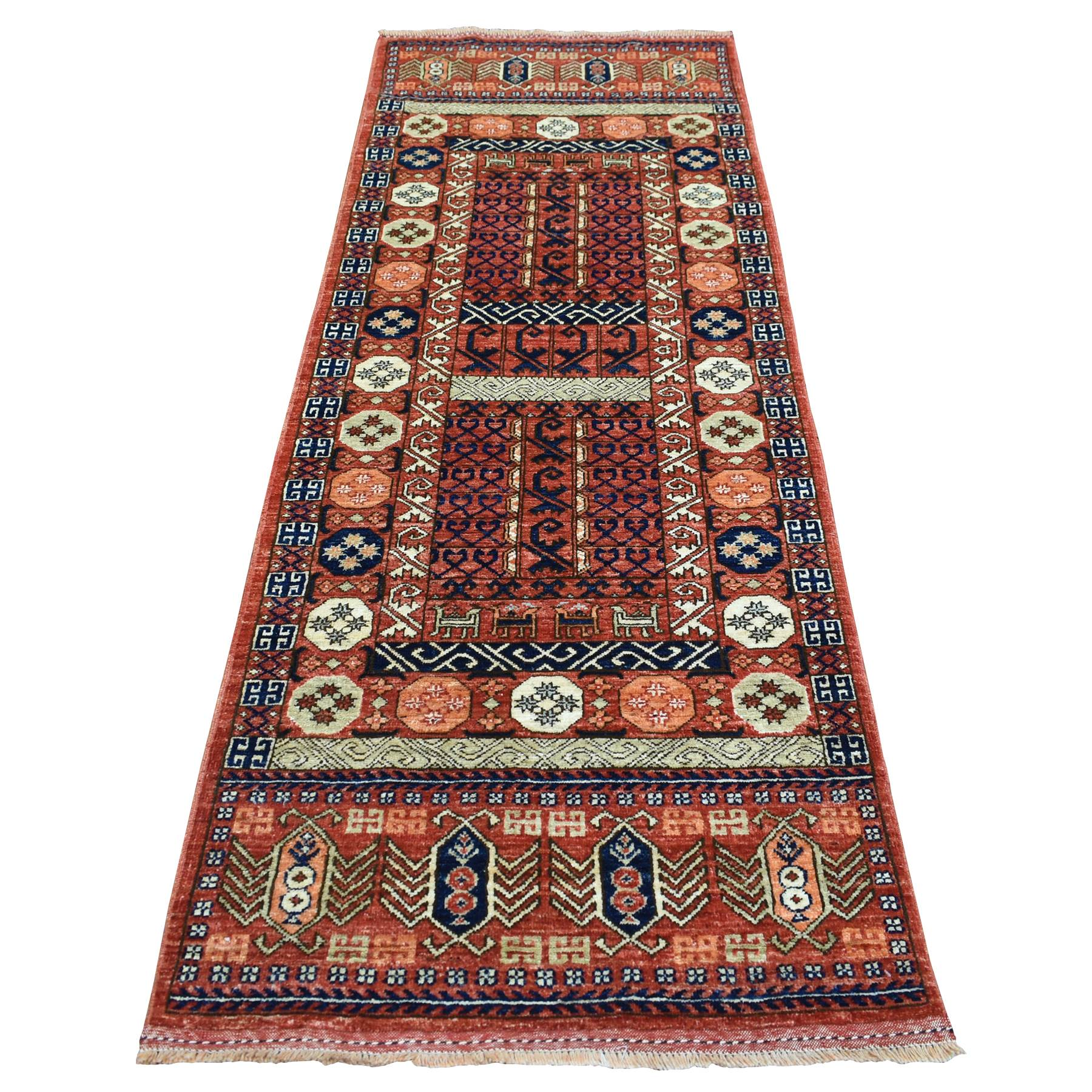 Nomadic And Village Collection Hand Knotted Red Rug No: 1139082