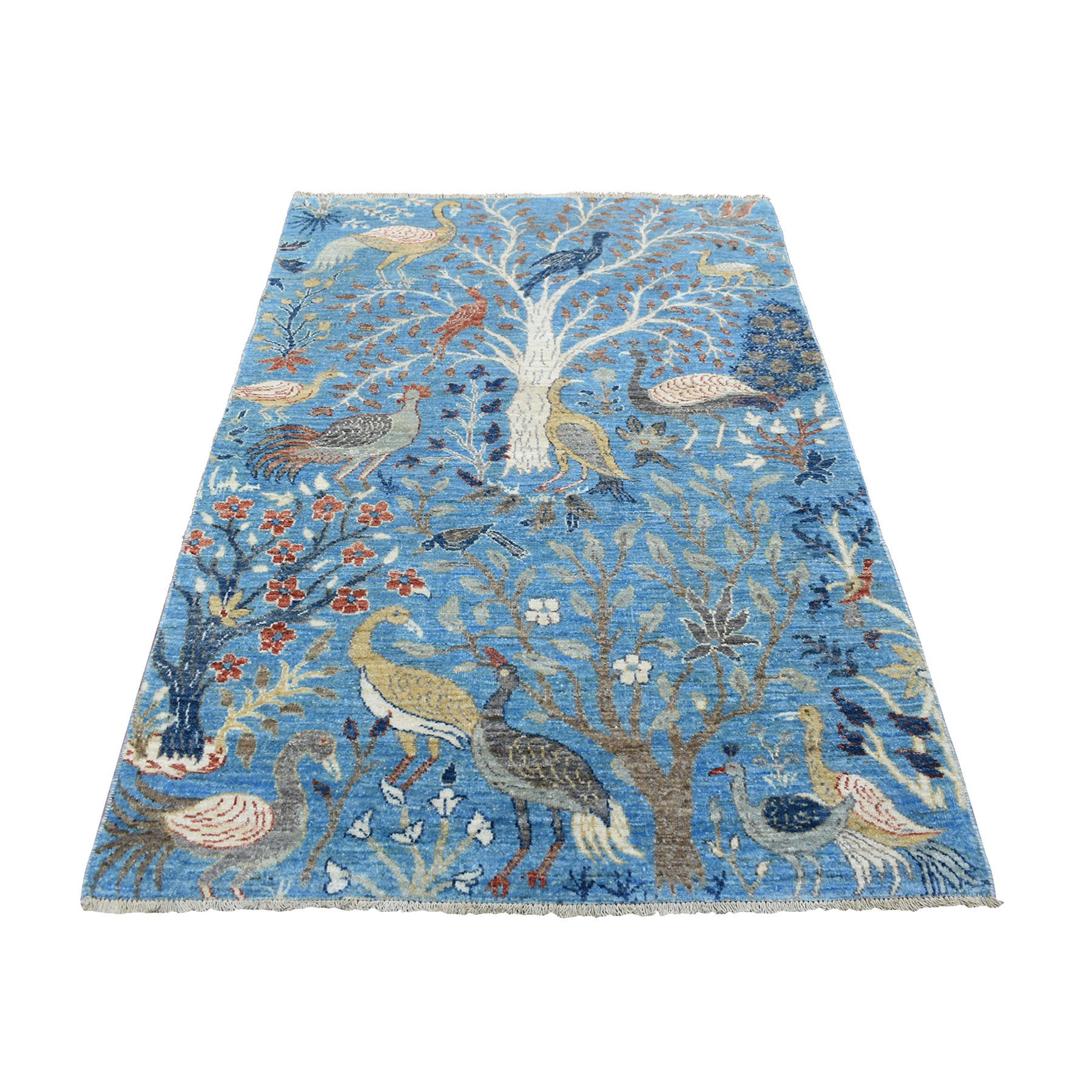 Agra And Turkish Collection Hand Knotted Blue Rug No: 1139290