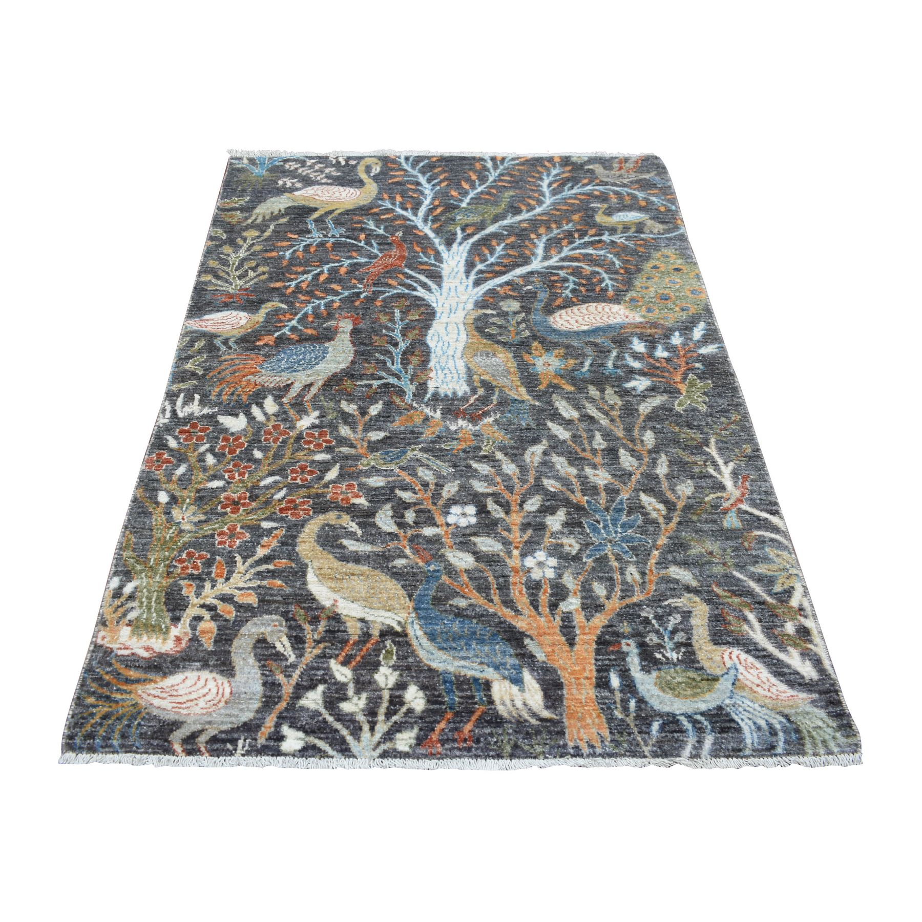 Agra And Turkish Collection Hand Knotted Grey Rug No: 1139292
