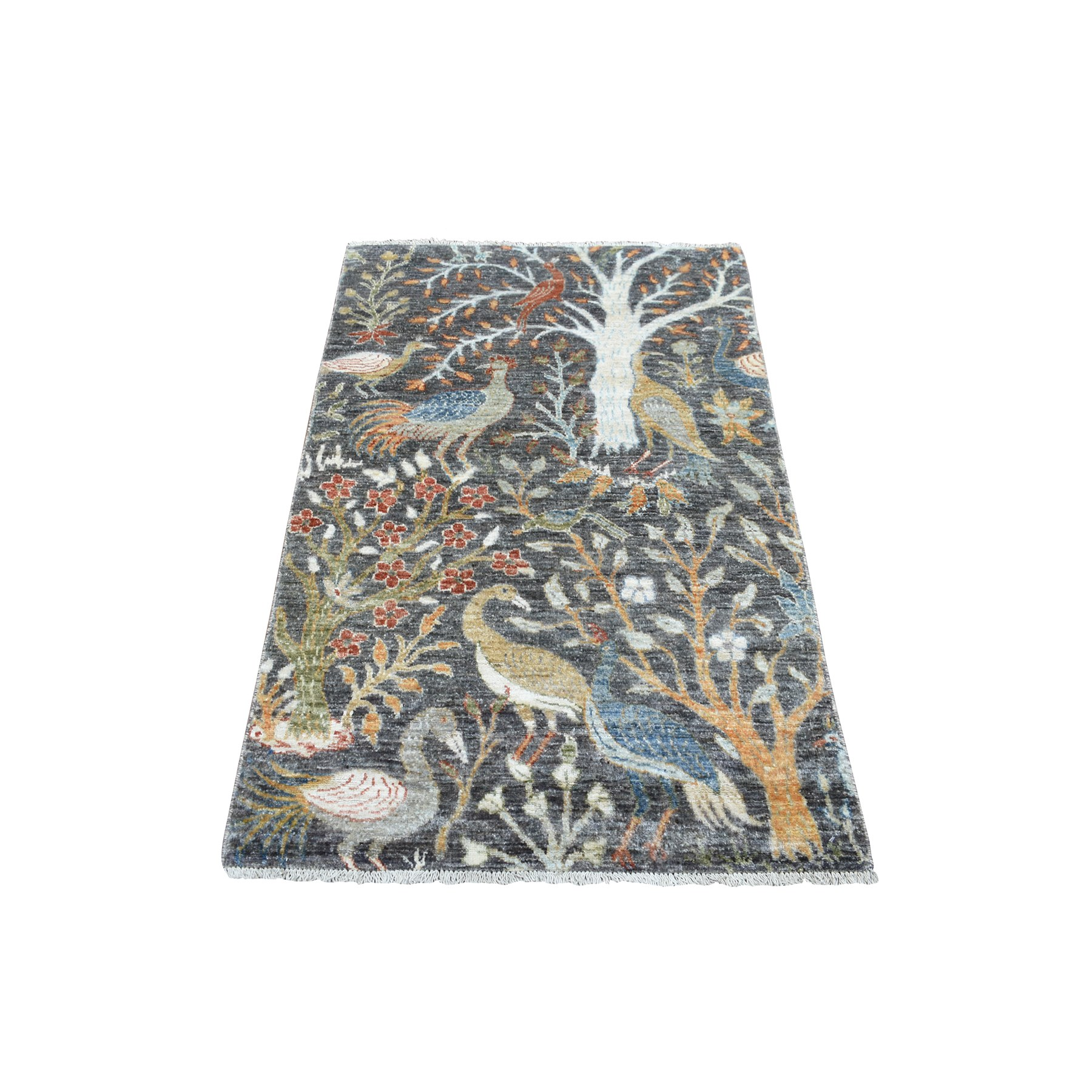 Agra And Turkish Collection Hand Knotted Grey Rug No: 1139294