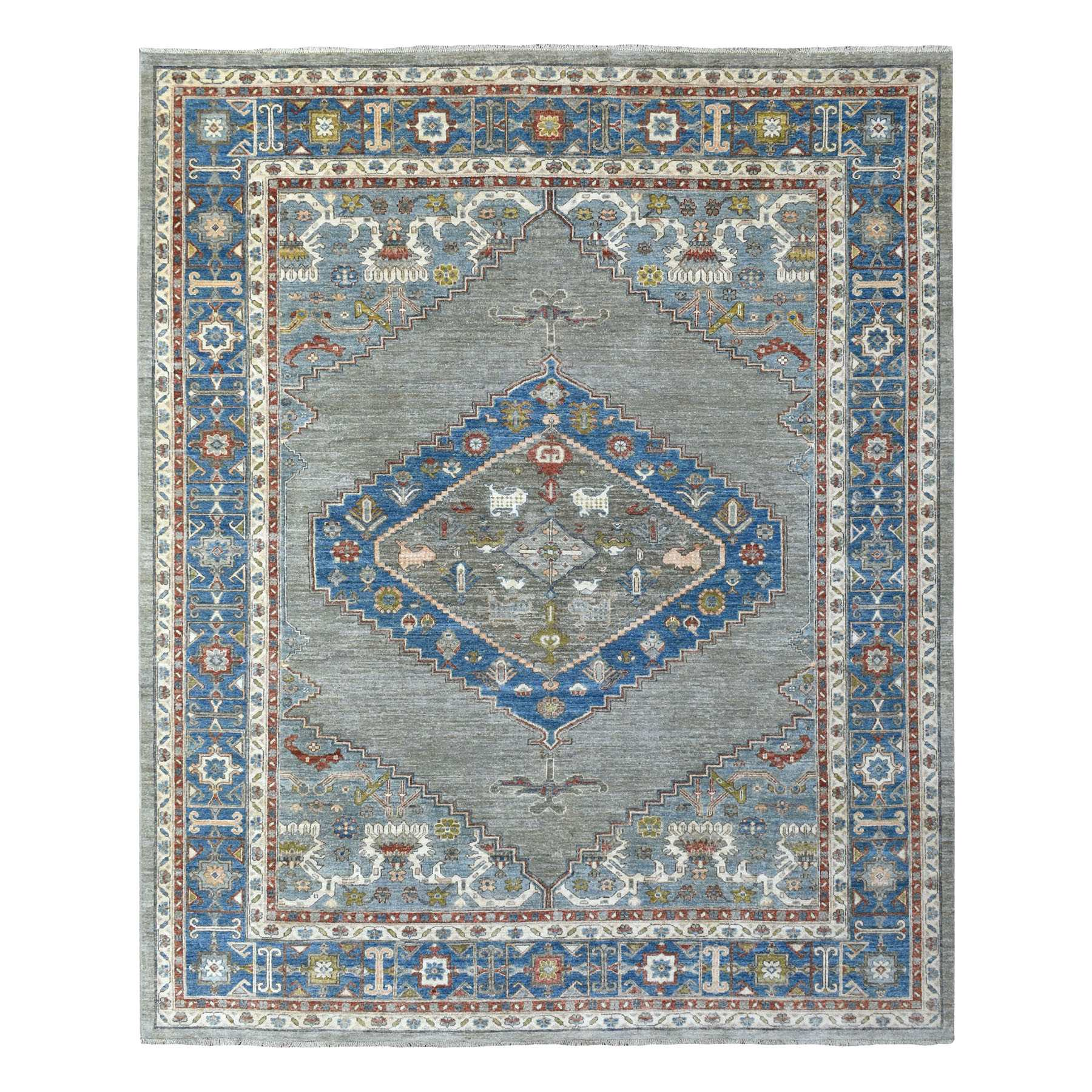 Agra And Turkish Collection Hand Knotted Grey Rug No: 1139310