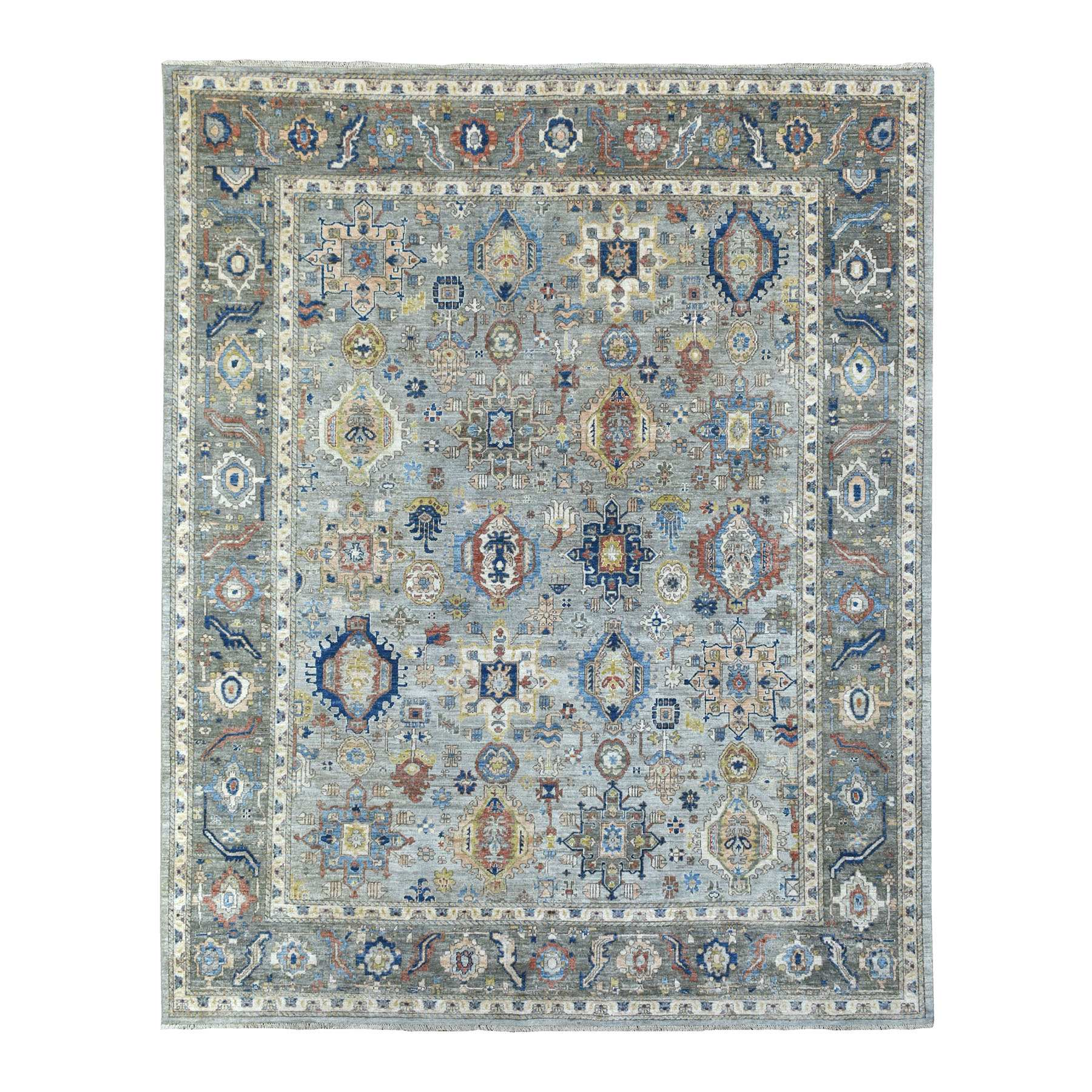 Agra And Turkish Collection Hand Knotted Grey Rug No: 1139312