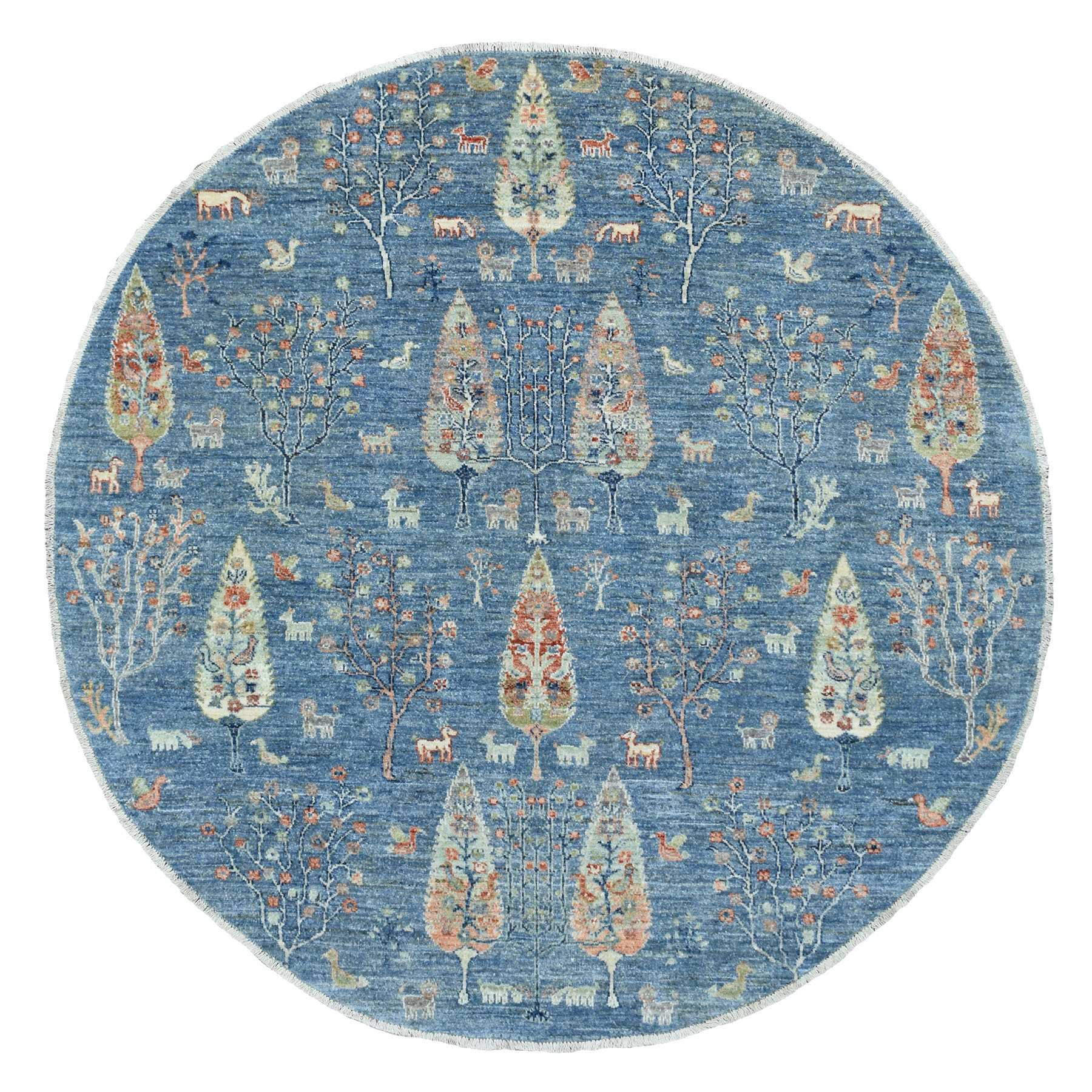 Agra And Turkish Collection Hand Knotted Blue Rug No: 1139354