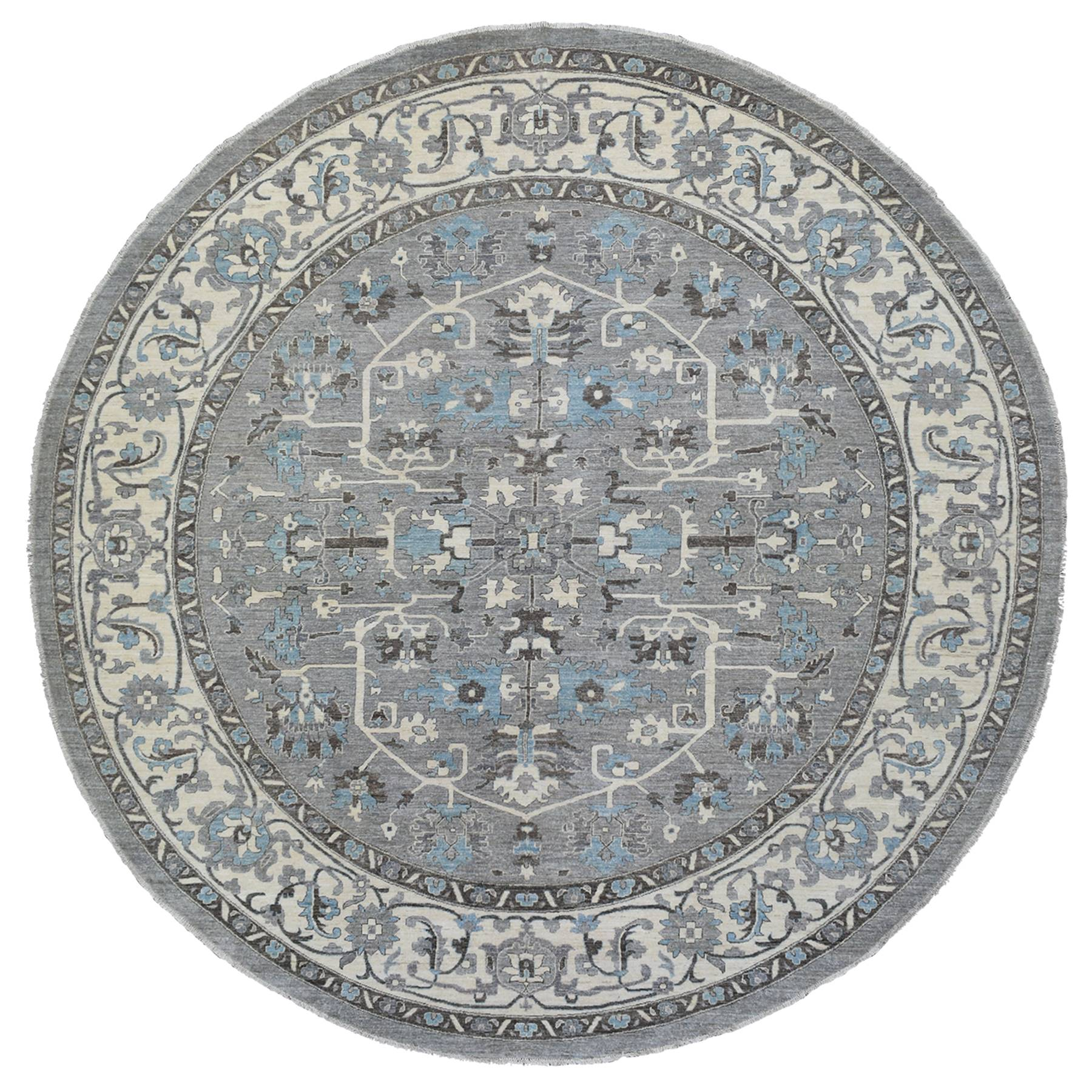 Agra And Turkish Collection Hand Knotted Grey Rug No: 1139304