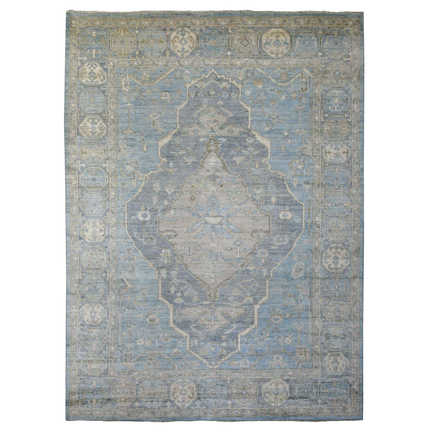 Nomadic And Village Collection Hand Knotted Blue Rug No: 1139270