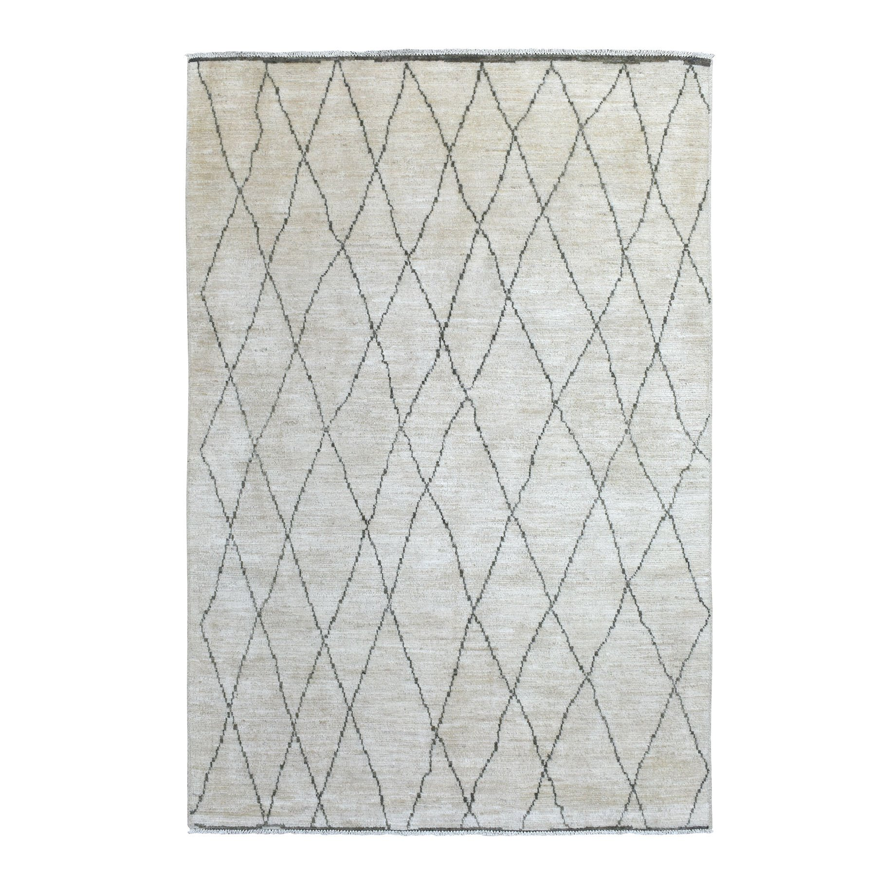 Nomadic And Village Collection Hand Knotted Ivory Rug No: 1139380