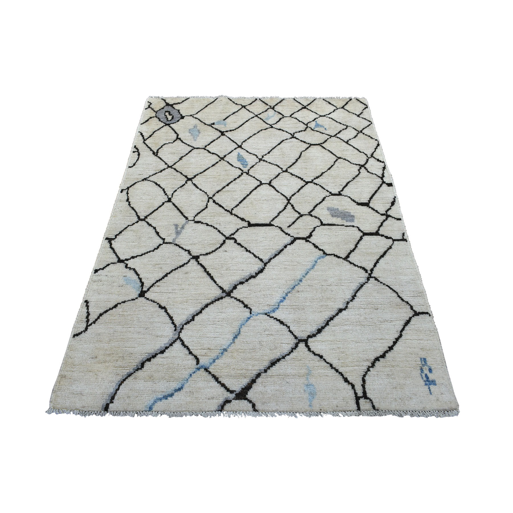 Nomadic And Village Collection Hand Knotted Ivory Rug No: 1139384