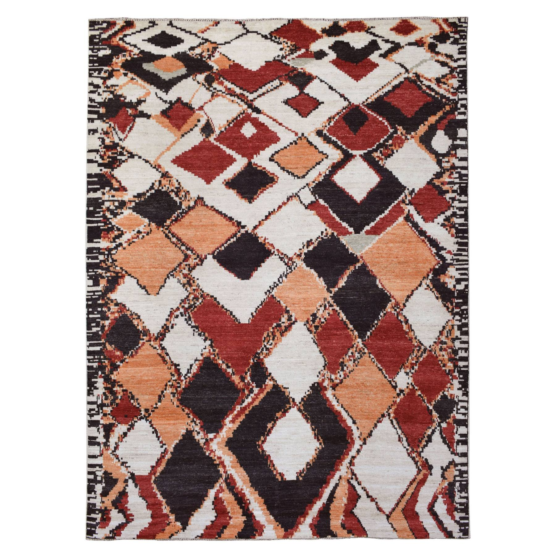 Nomadic And Village Collection Hand Knotted Ivory Rug No: 1138848