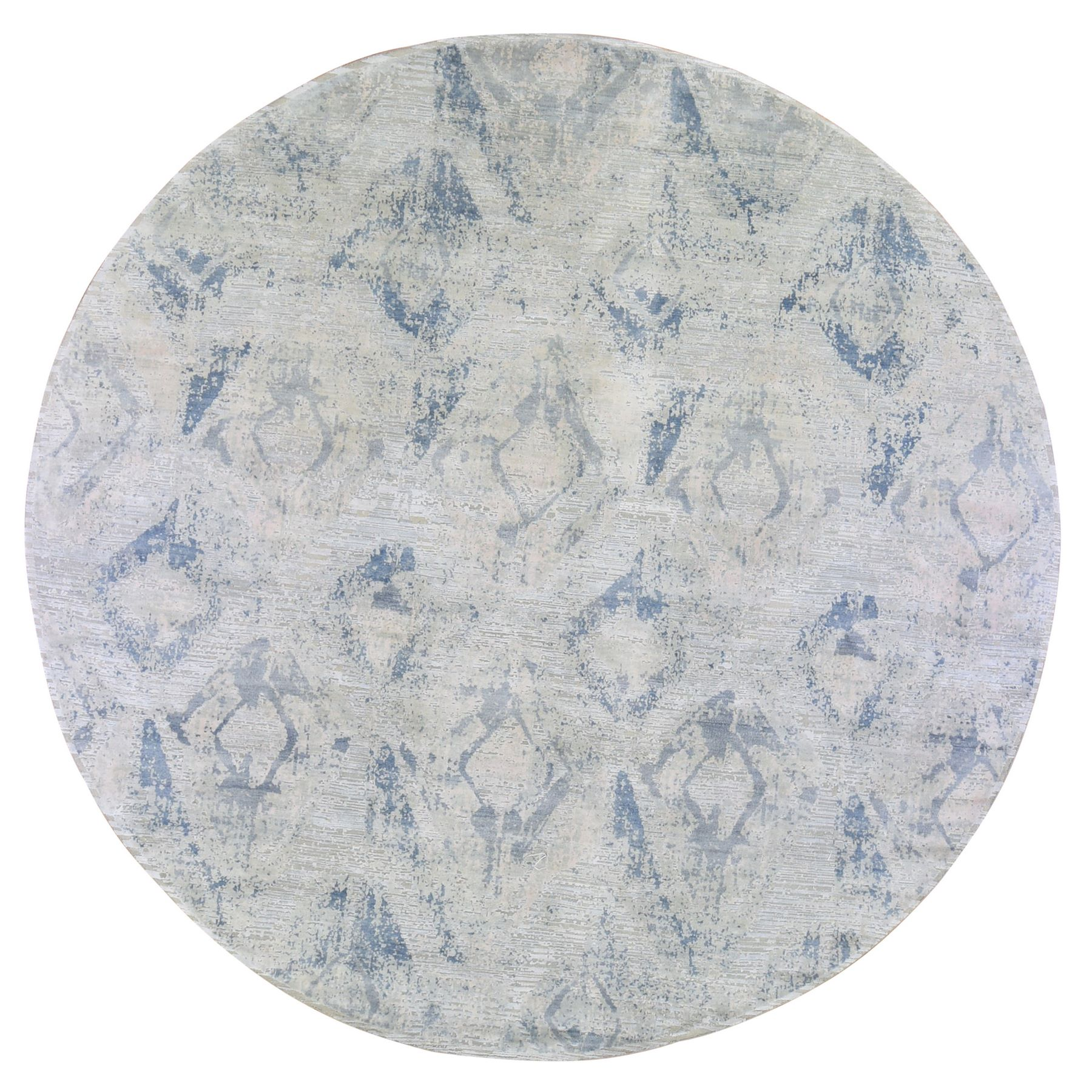 Mid Century Modern Collection Hand Knotted Ivory Rug No: 1133734