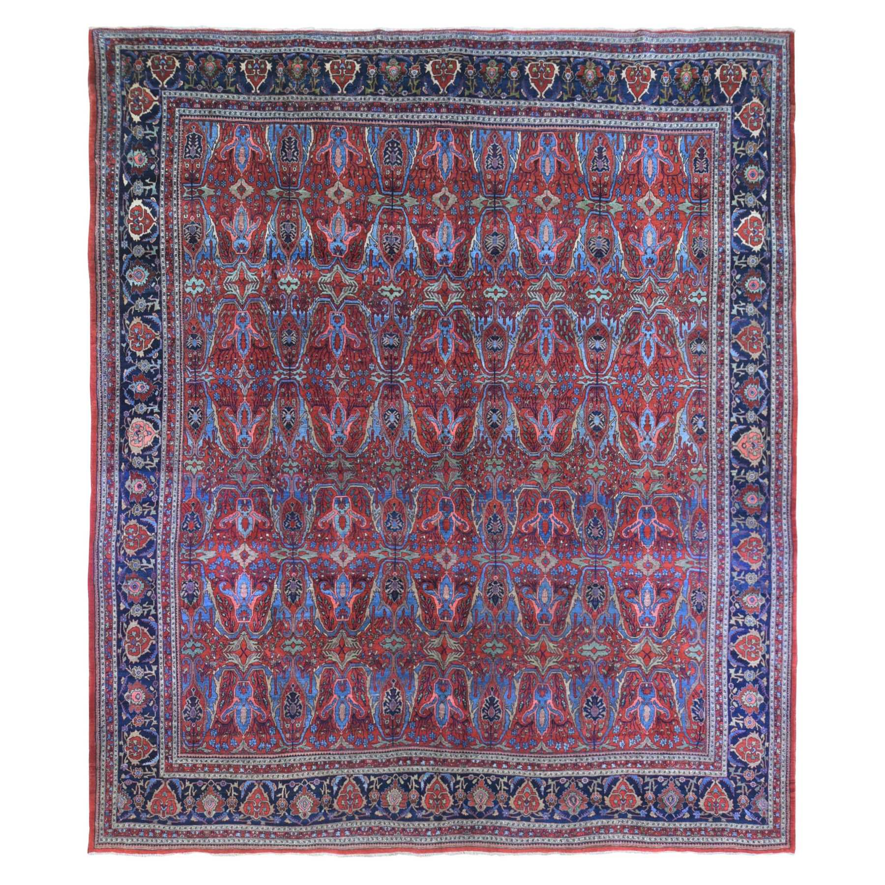 Antique Collection Hand Knotted Red Rug No: 1133730
