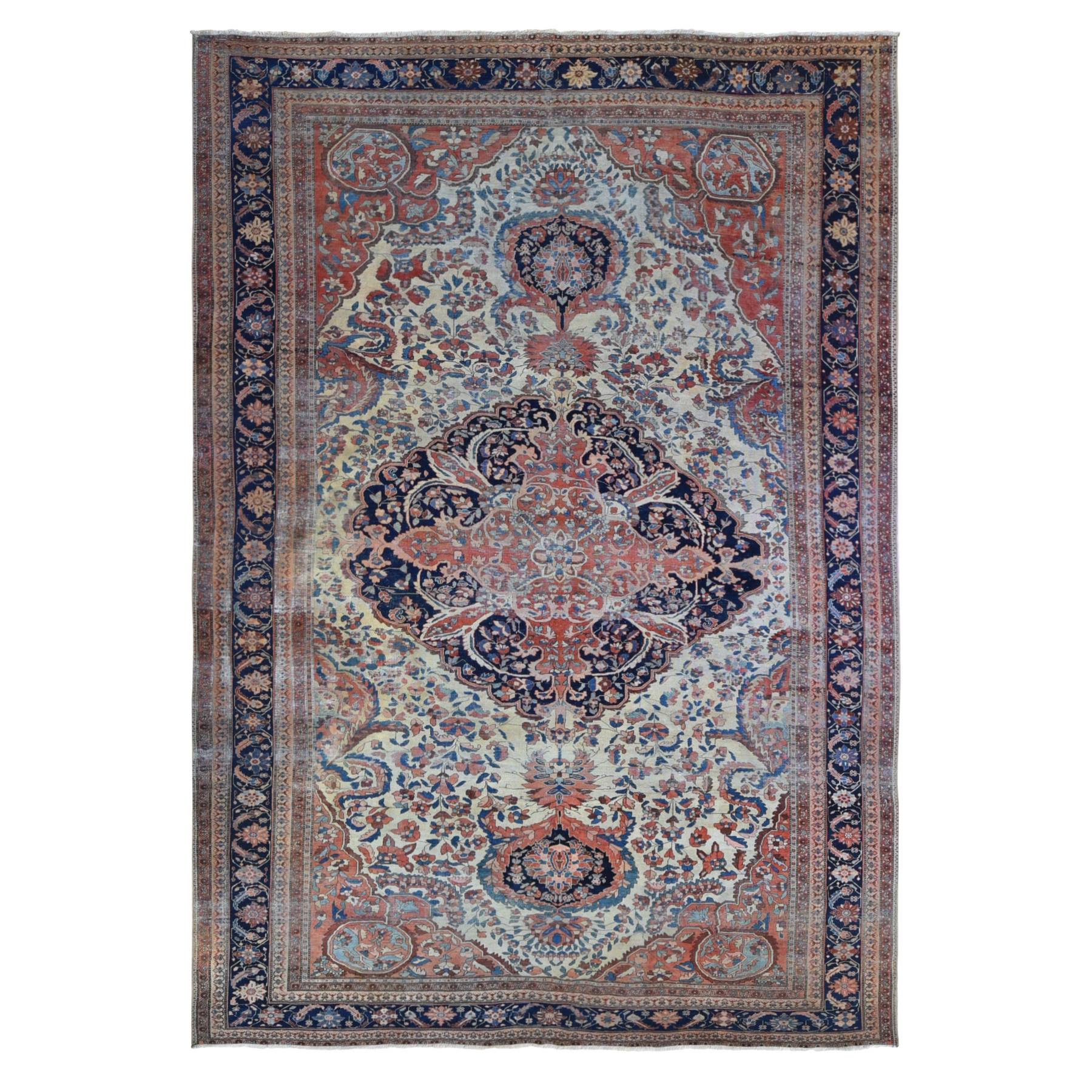 Antique Collection Hand Knotted Ivory Rug No: 1133744