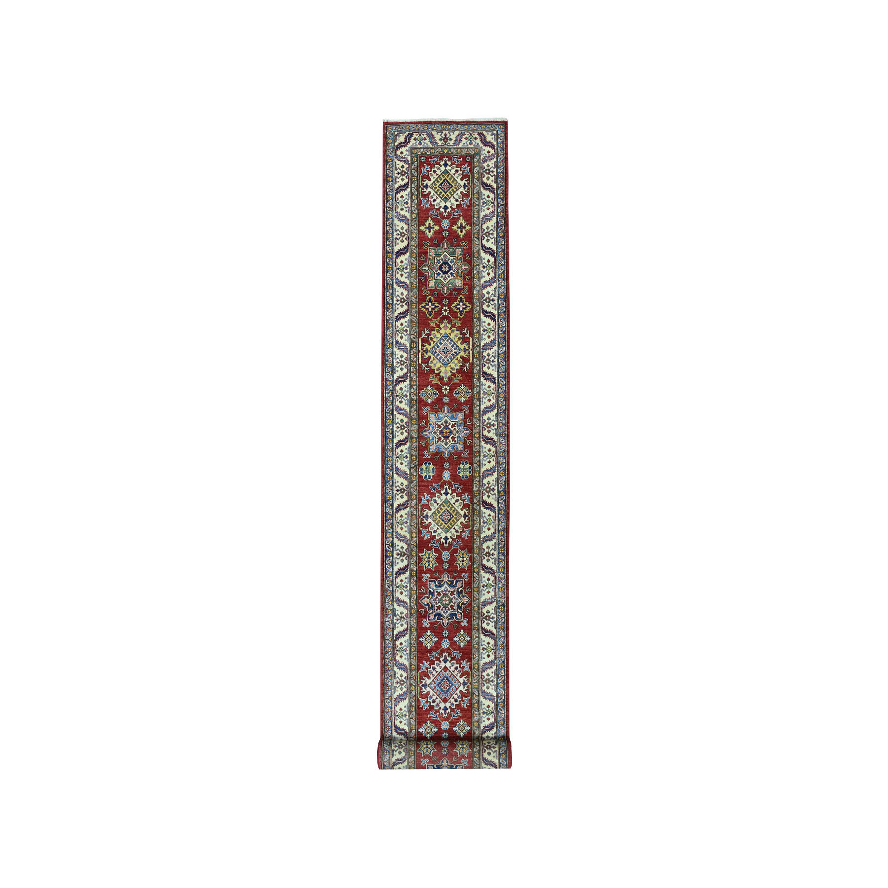Caucasian Collection Hand Knotted Red Rug No: 01101634