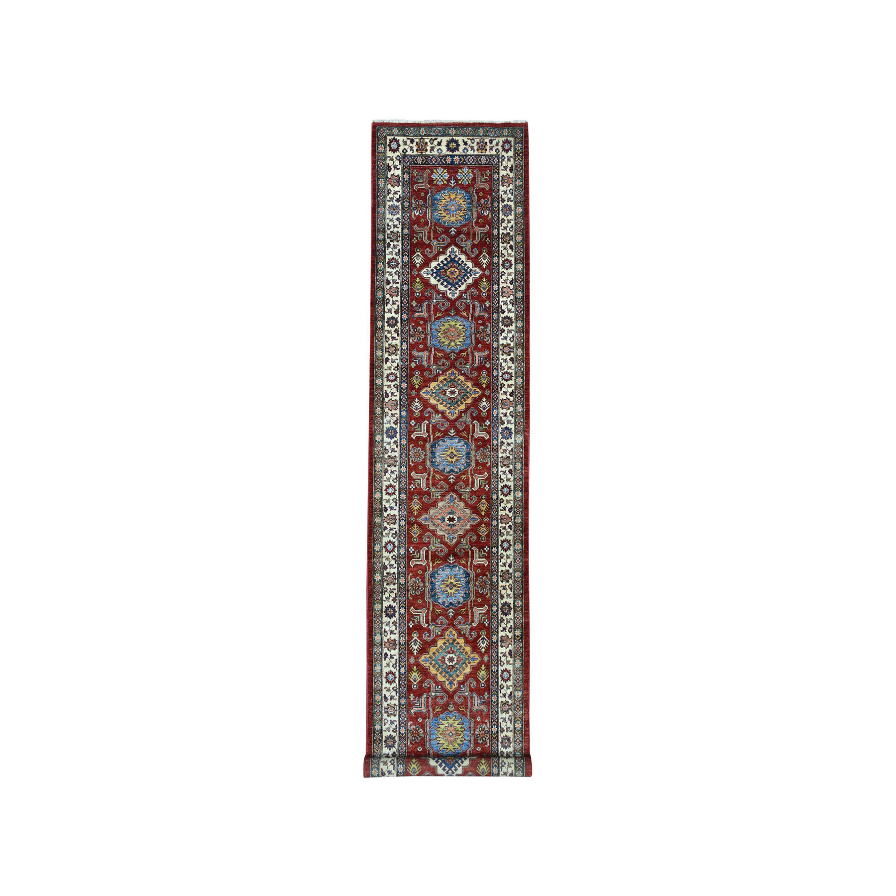Caucasian Collection Hand Knotted Red Rug No: 01101642