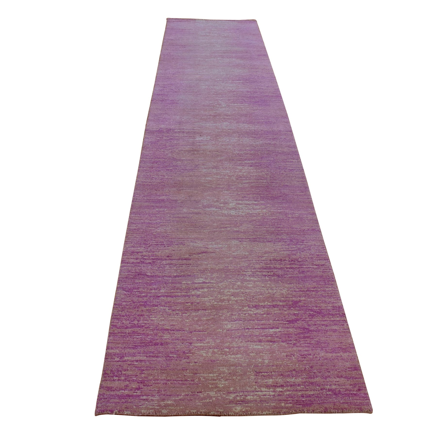 Mid Century Modern Collection Hand Knotted Pink Rug No: 1133756