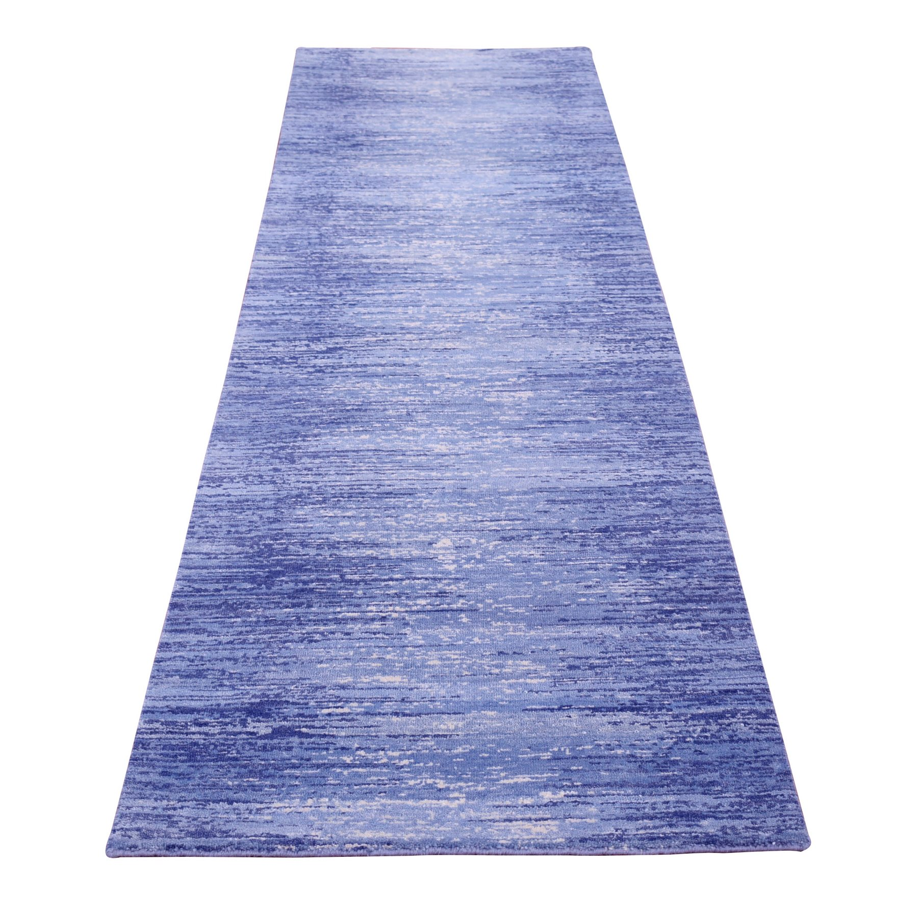 Mid Century Modern Collection Hand Knotted Blue Rug No: 1133760