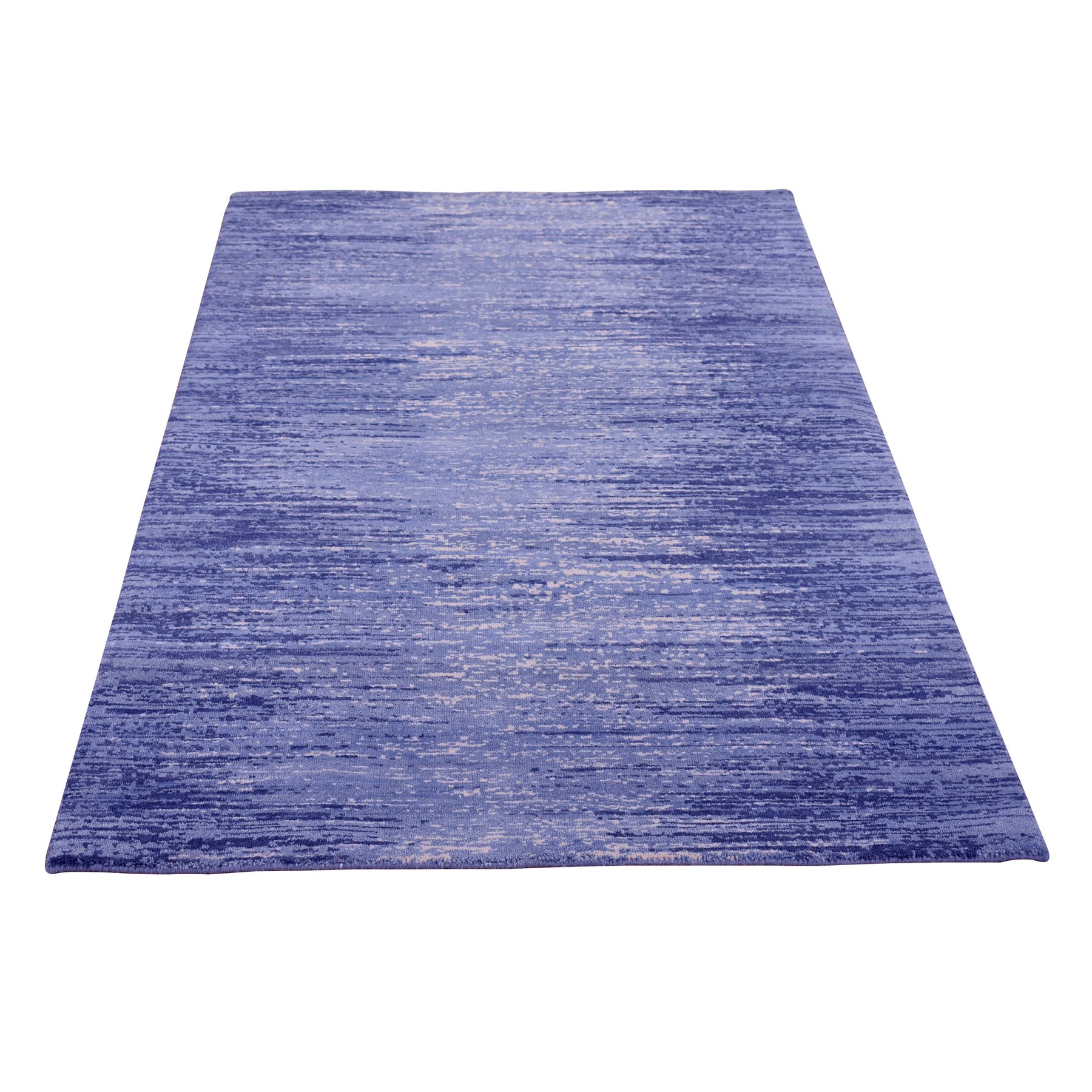 Mid Century Modern Collection Hand Knotted Blue Rug No: 1133762