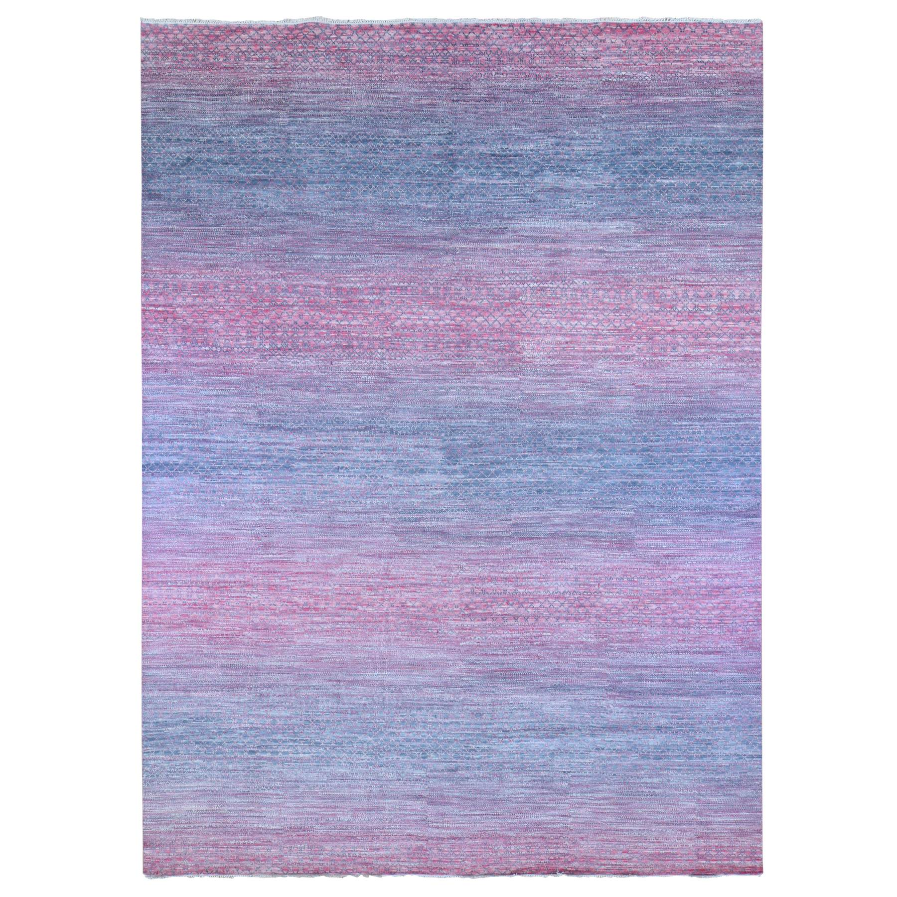 Mid Century Modern Collection Hand Knotted Pink Rug No: 1133774