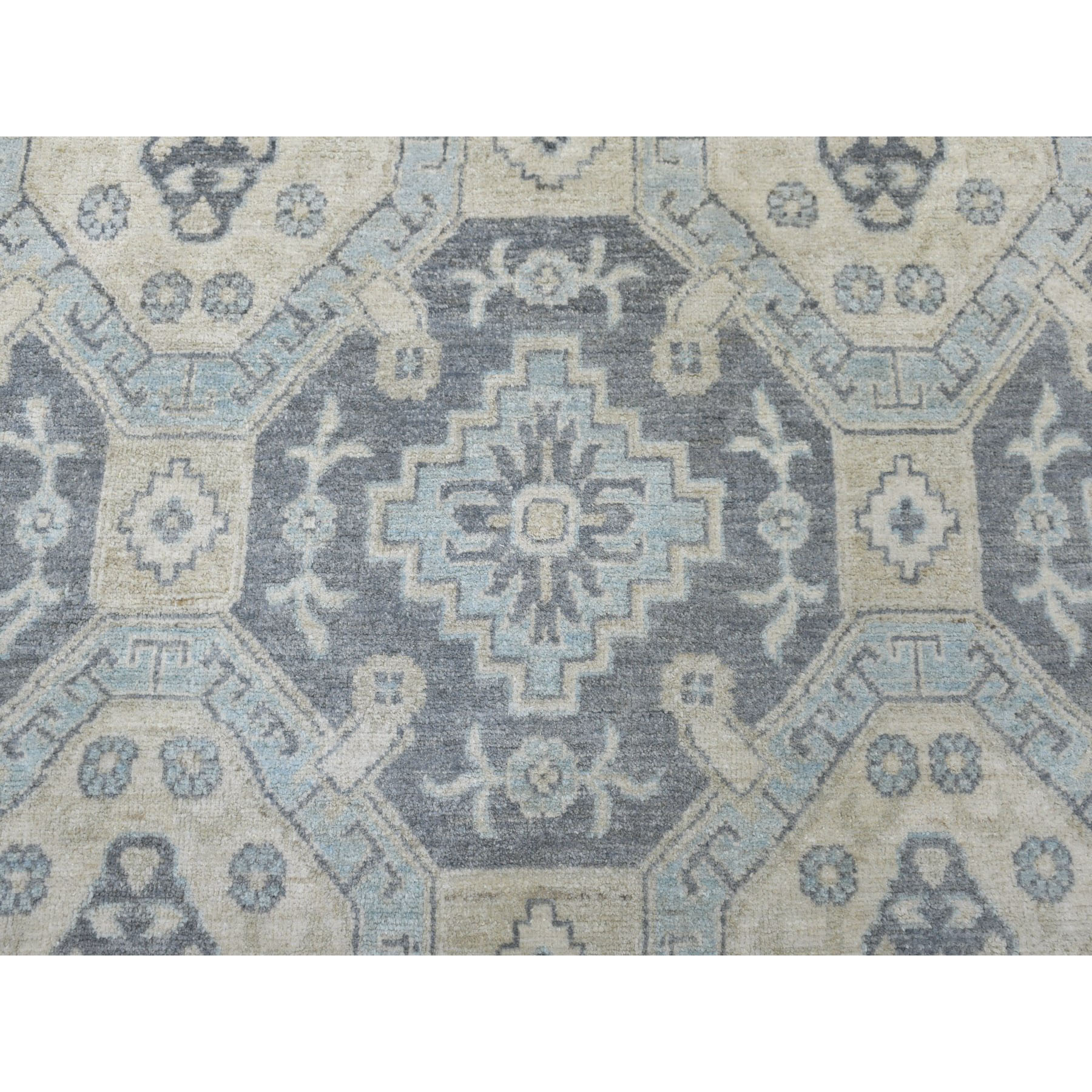 Agra And Turkish Collection Hand Knotted Grey 01102210 Rug