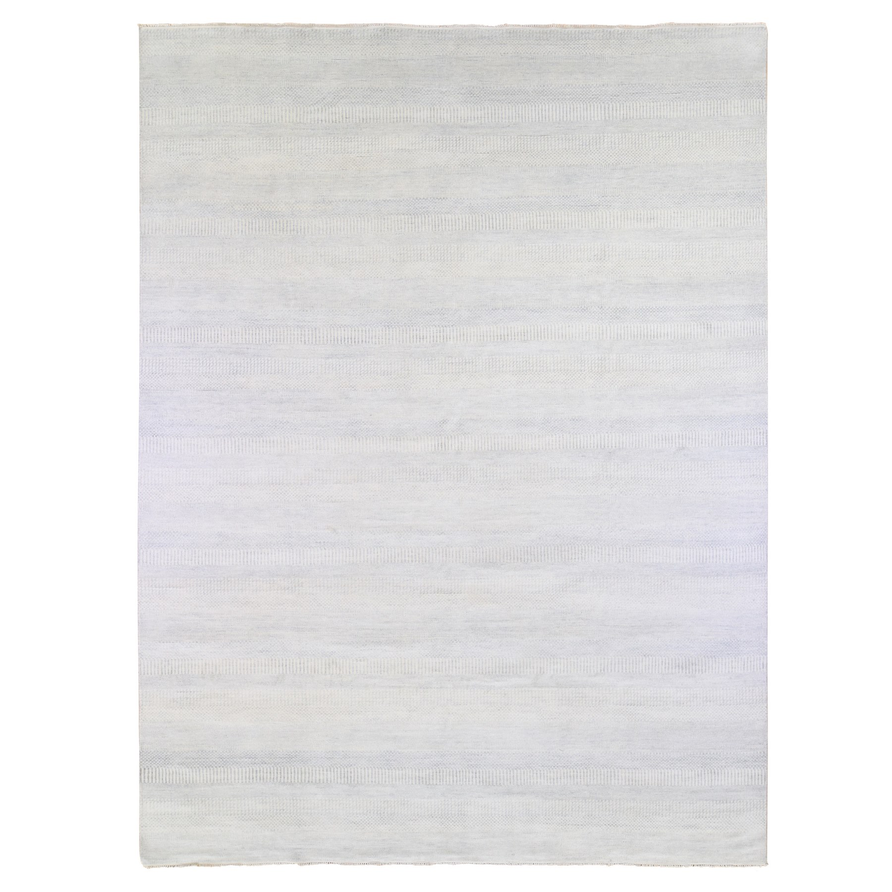 Mid Century Modern Collection Hand Knotted Blue Rug No: 1133776