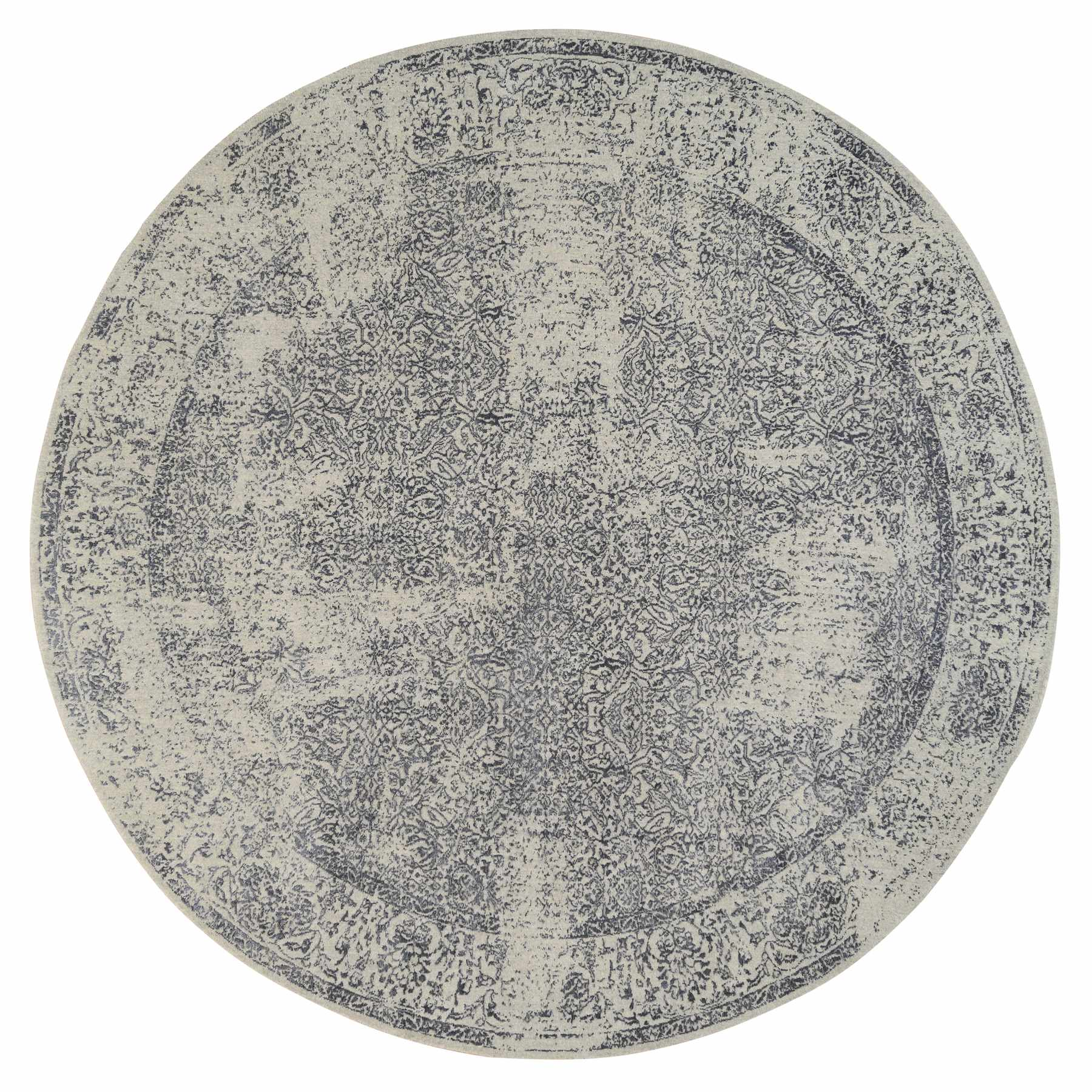 Mid Century Modern Collection Hand Loomed Grey Rug No: 1127008