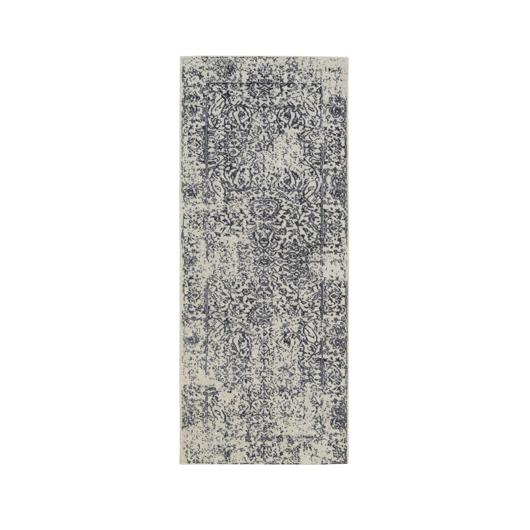 Mid Century Modern Collection Hand Loomed Grey Rug No: 1126524