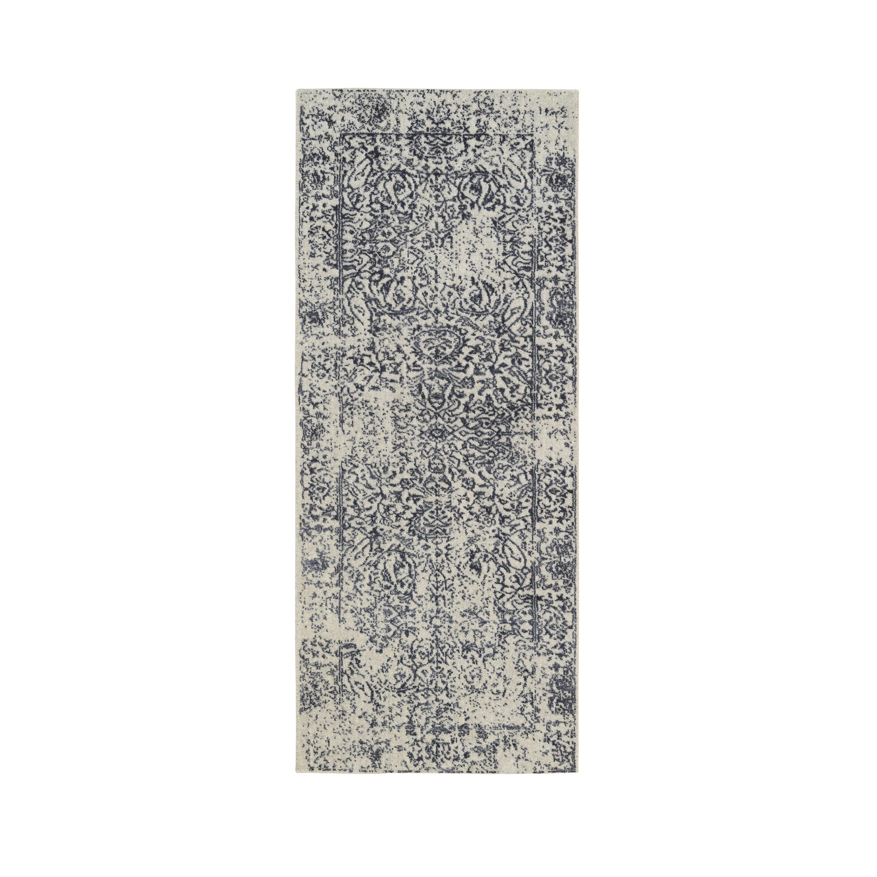 Mid Century Modern Collection Hand Loomed Grey Rug No: 1126520