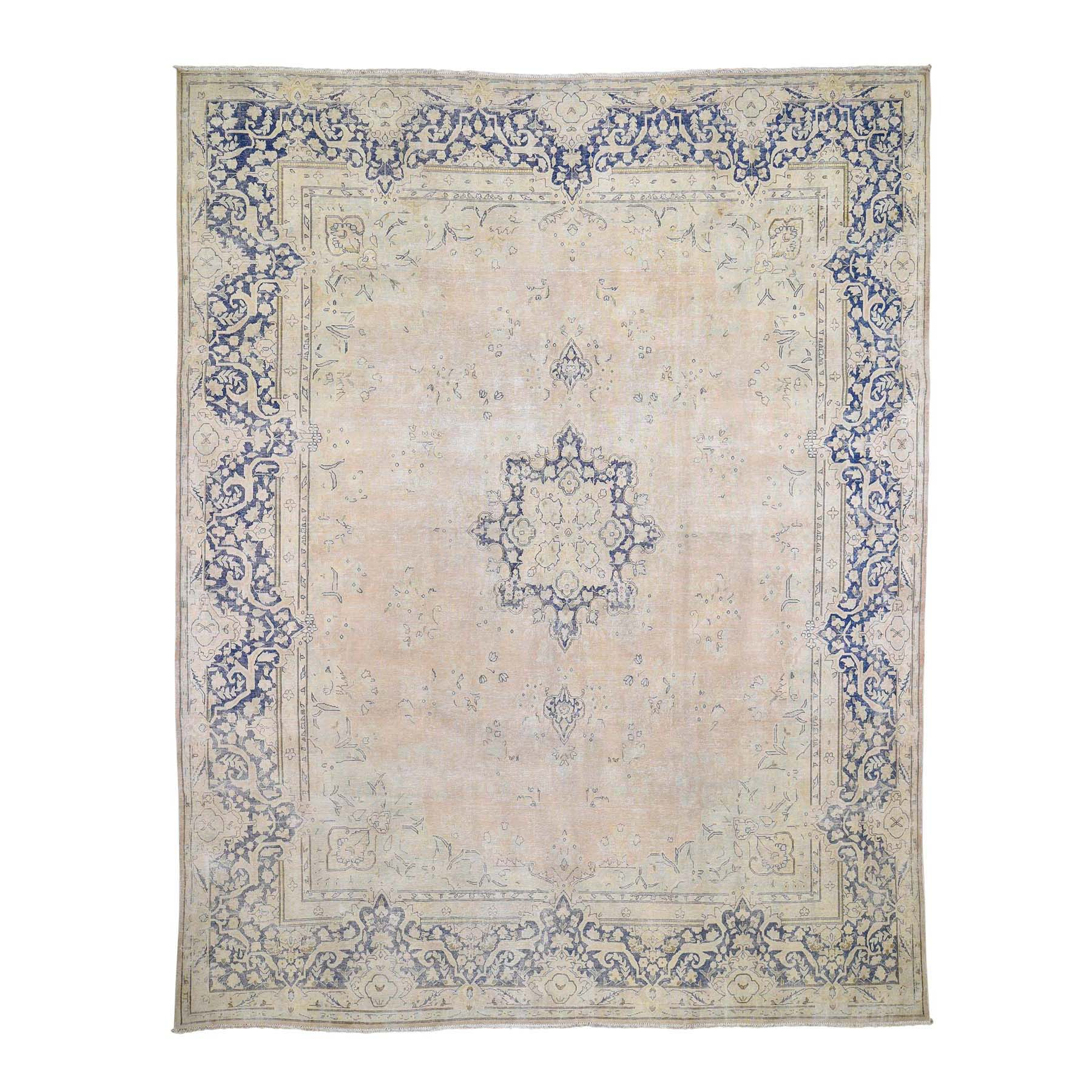 Transitional Collection Hand Knotted Ivory Rug No: 0192012